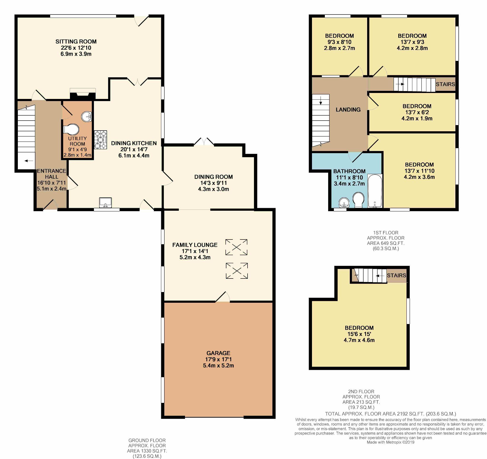5 bedroom barn conversion house SSTC in Hebden Bridge - Floorplan 1