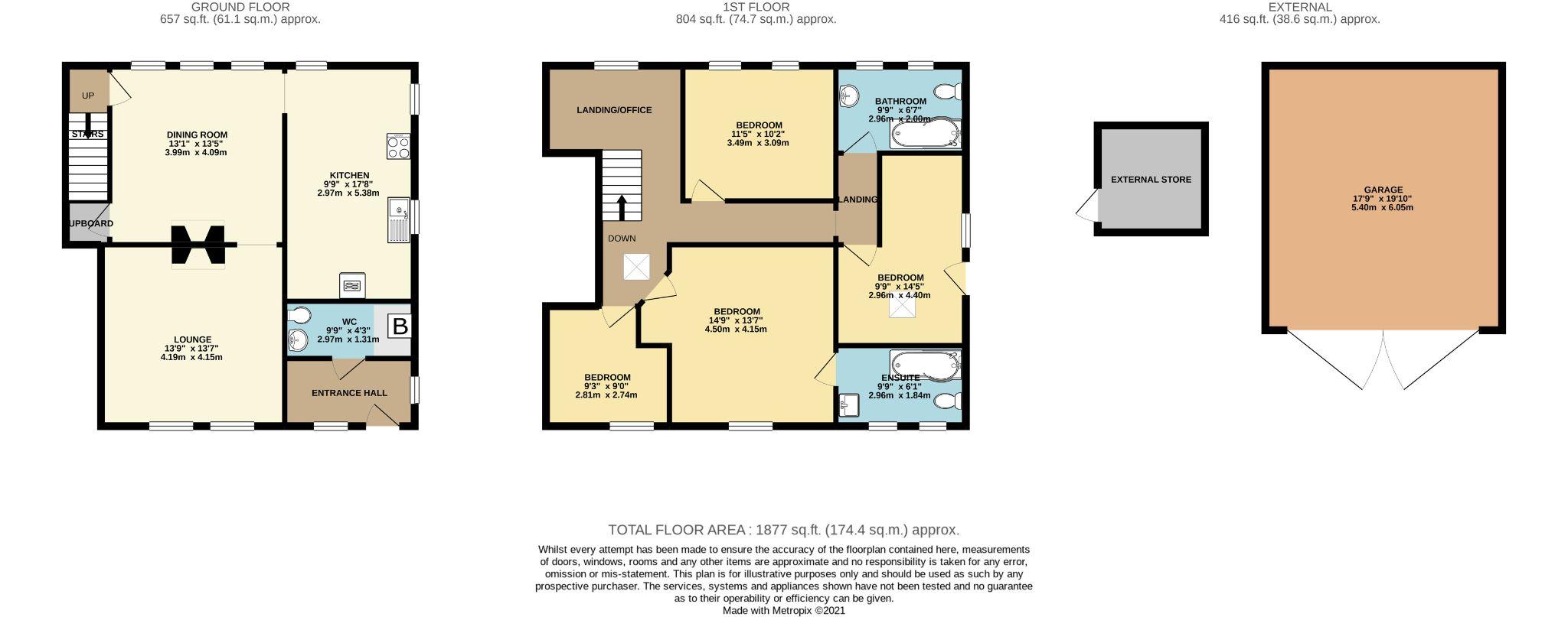 4 bedroom semi-detached house For Sale in Luddenden, Halifax - Floorplan 1