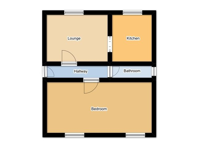 1 Bedroom Flat Flat/apartment For Sale - Floorplan 1
