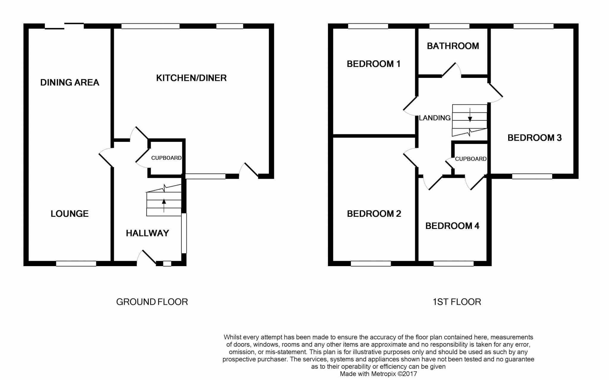 4 Bedroom Semi-detached House For Sale - floorplan