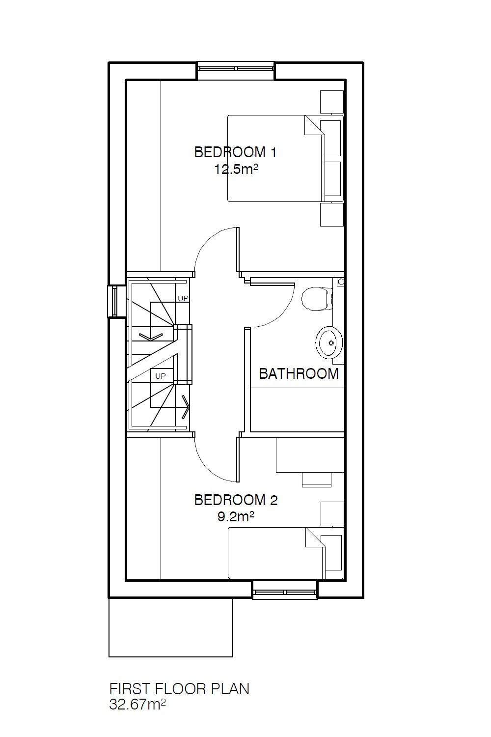 3 Bedroom Town House For Sale - Floorplan 2