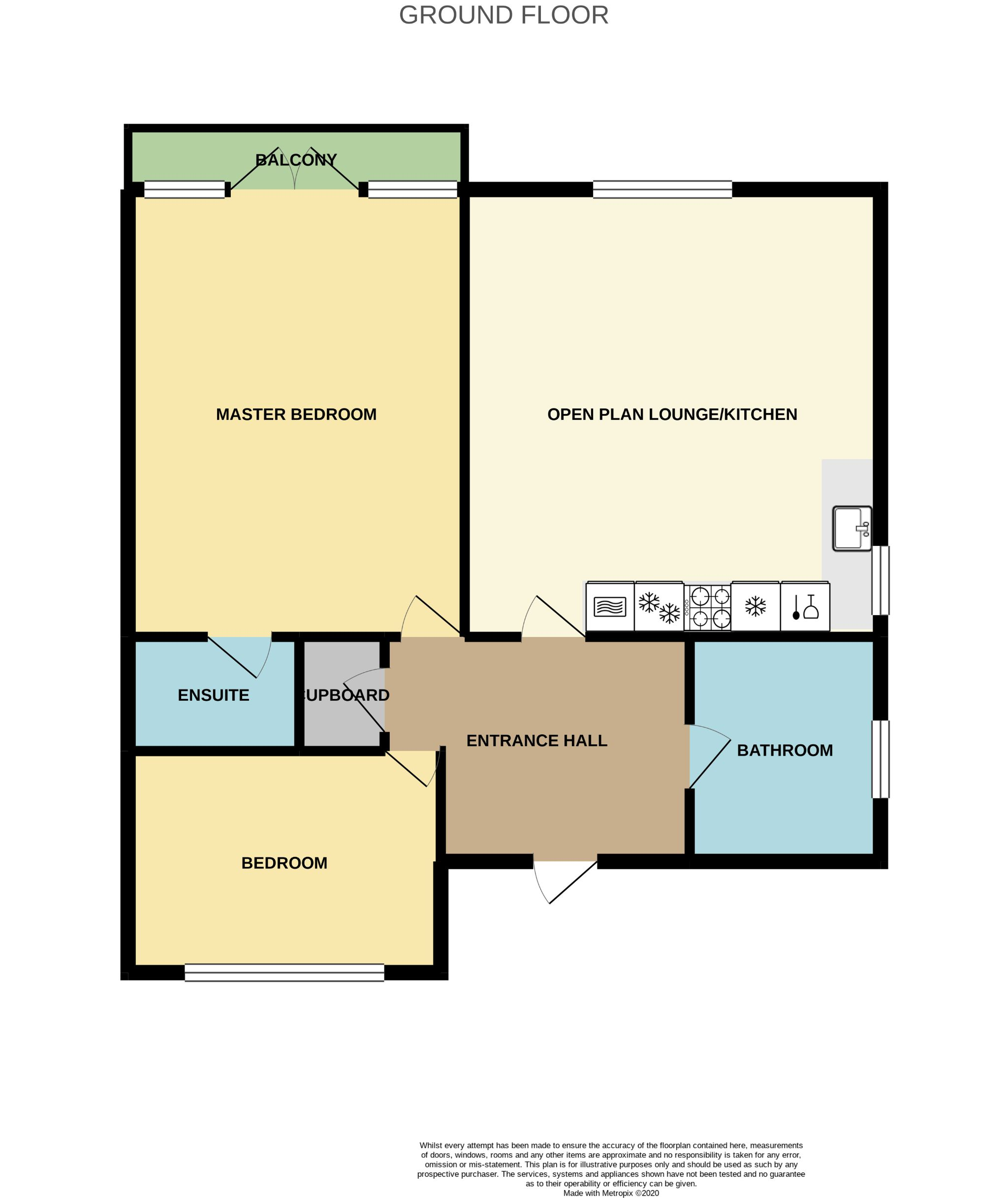 2 Bedroom Penthouse Flat/apartment For Sale - Floorplan 1