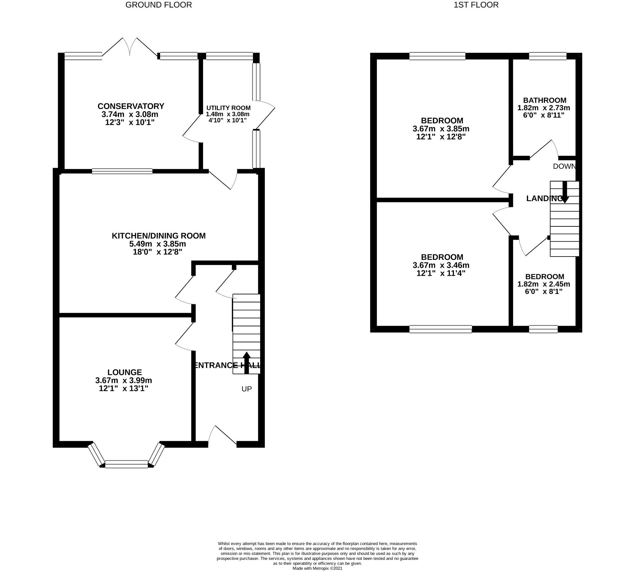 3 Bedroom Semi-detached House For Sale - floorplan