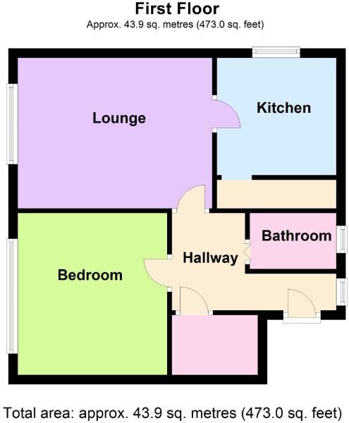 1 Bedroom Apartment Flat/apartment For Sale - Floorplan 1