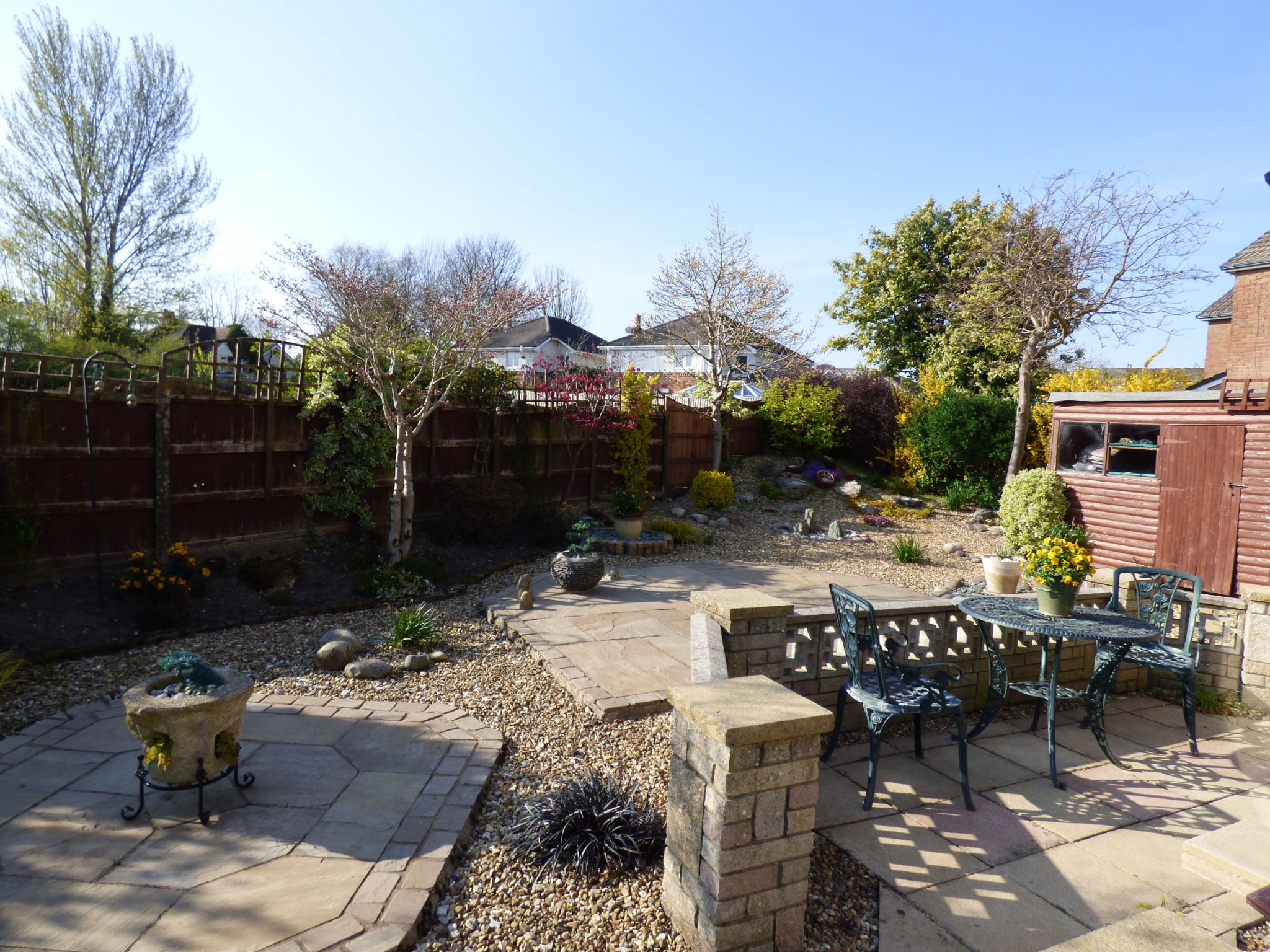 3 Bedroom Detached House For Sale - Rear Garden View 1