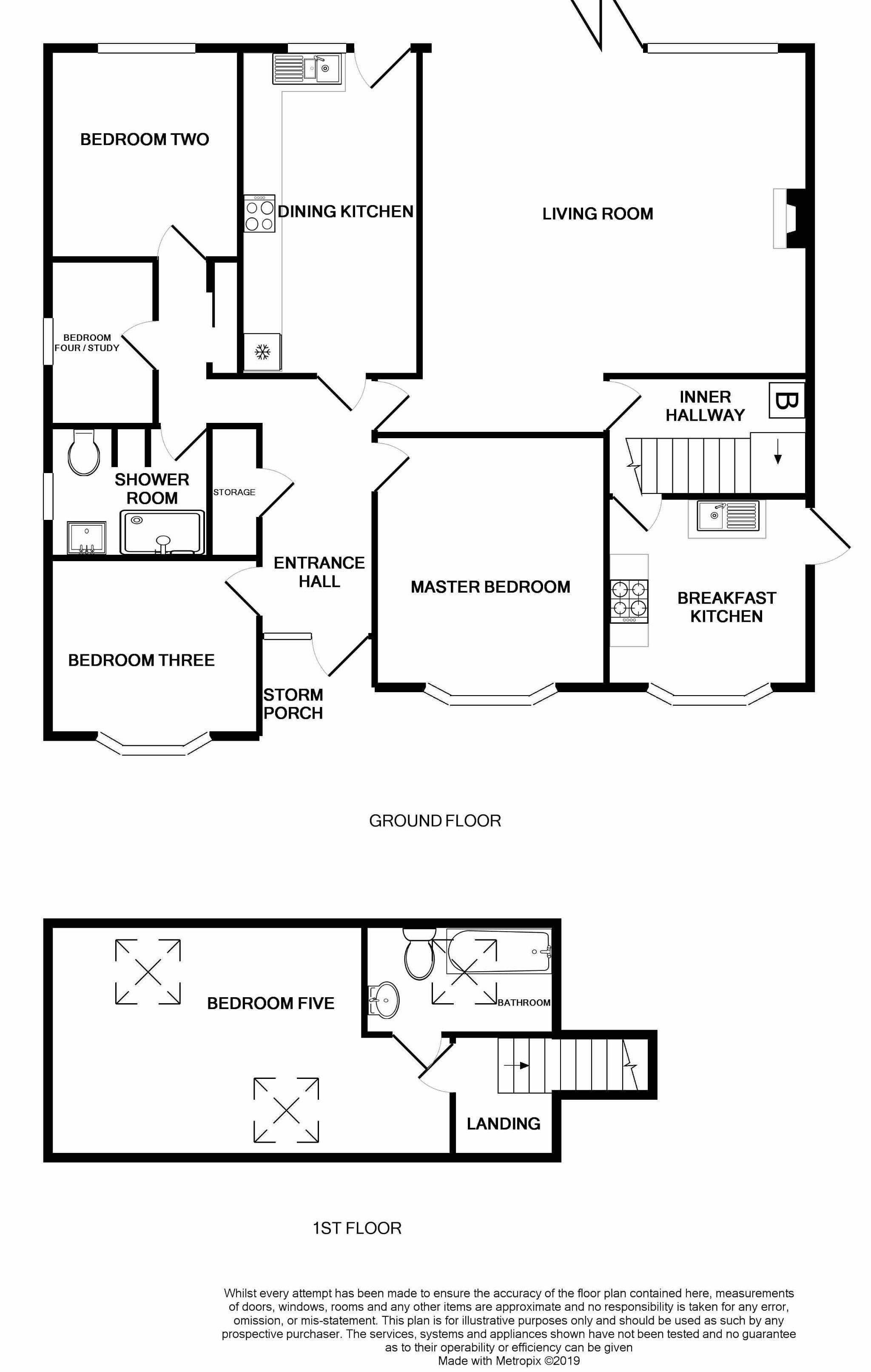5 Bedroom Detached Bungalow For Sale - Floorplan 1