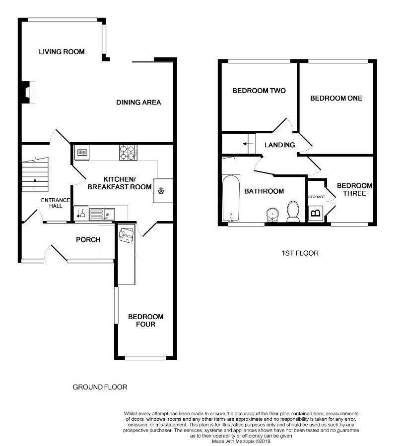 4 Bedroom Mews House For Sale - Floorplan 1