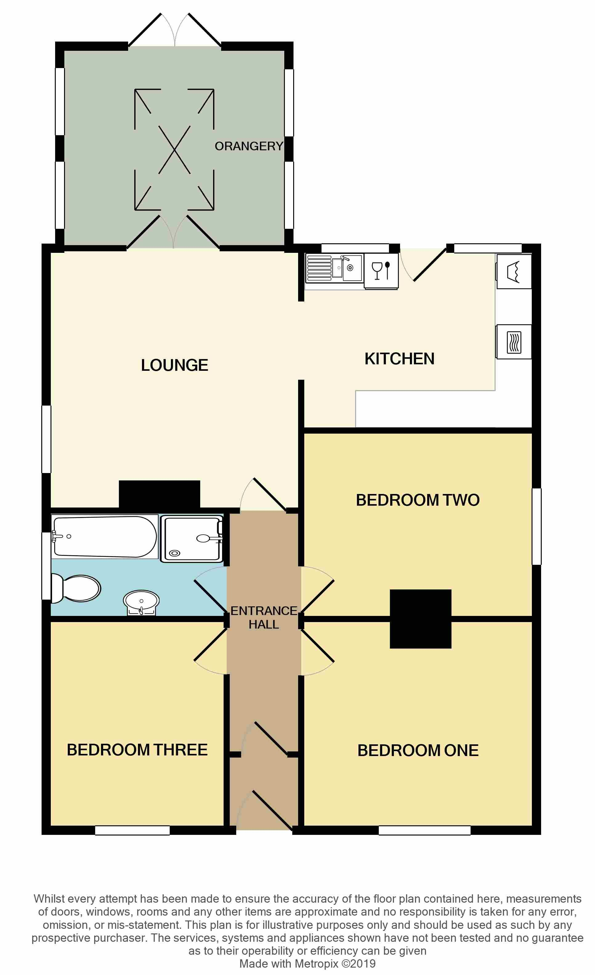 3 Bedroom Detached Bungalow For Sale - Floorplan 1