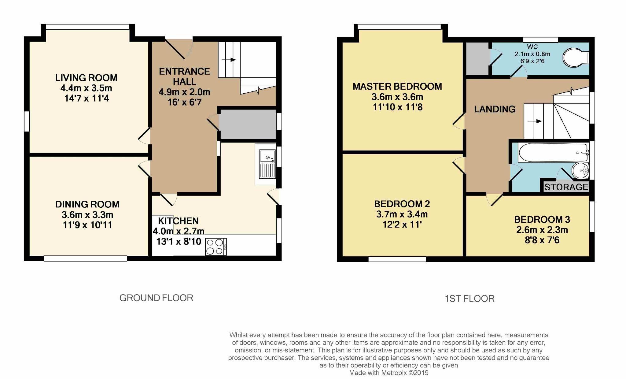 3 Bedroom Detached House For Sale - floorplan