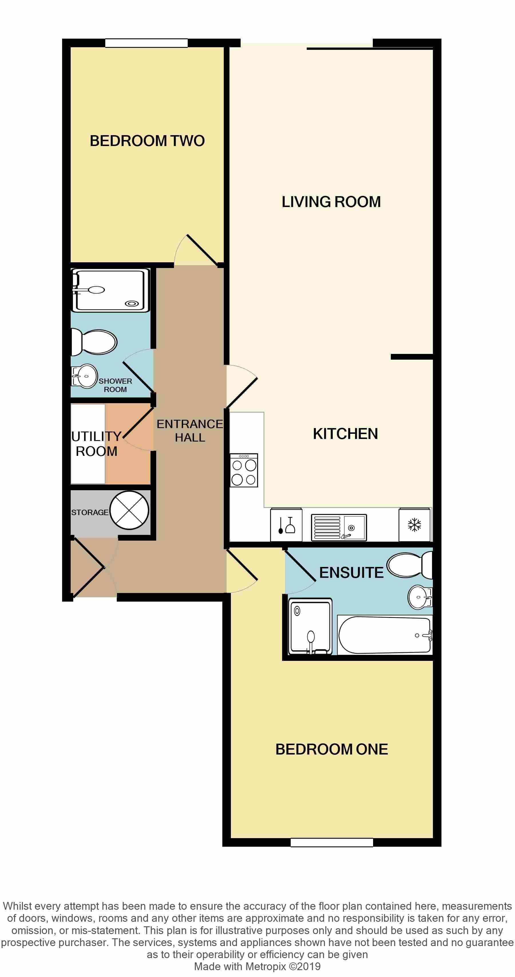 2 Bedroom Apartment Flat/apartment For Sale - Floorplan 2