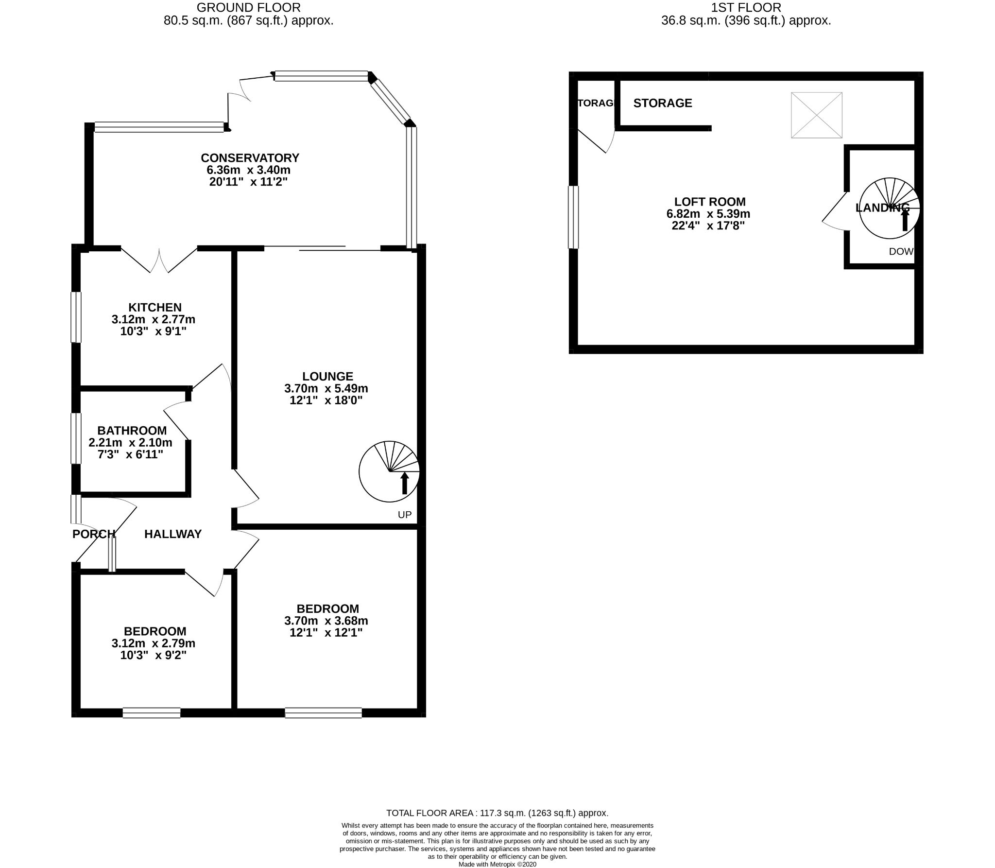 3 Bedroom Semi-detached Bungalow For Sale - Floorplan 1