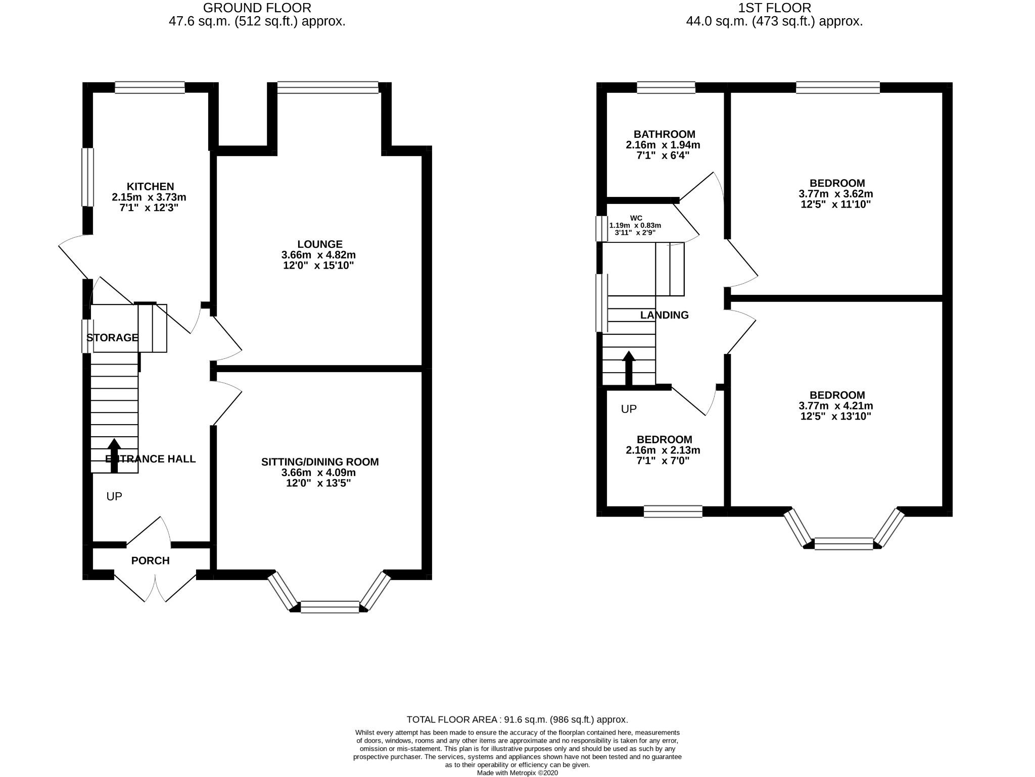 3 Bedroom Semi-detached House For Sale - Floorplan 1