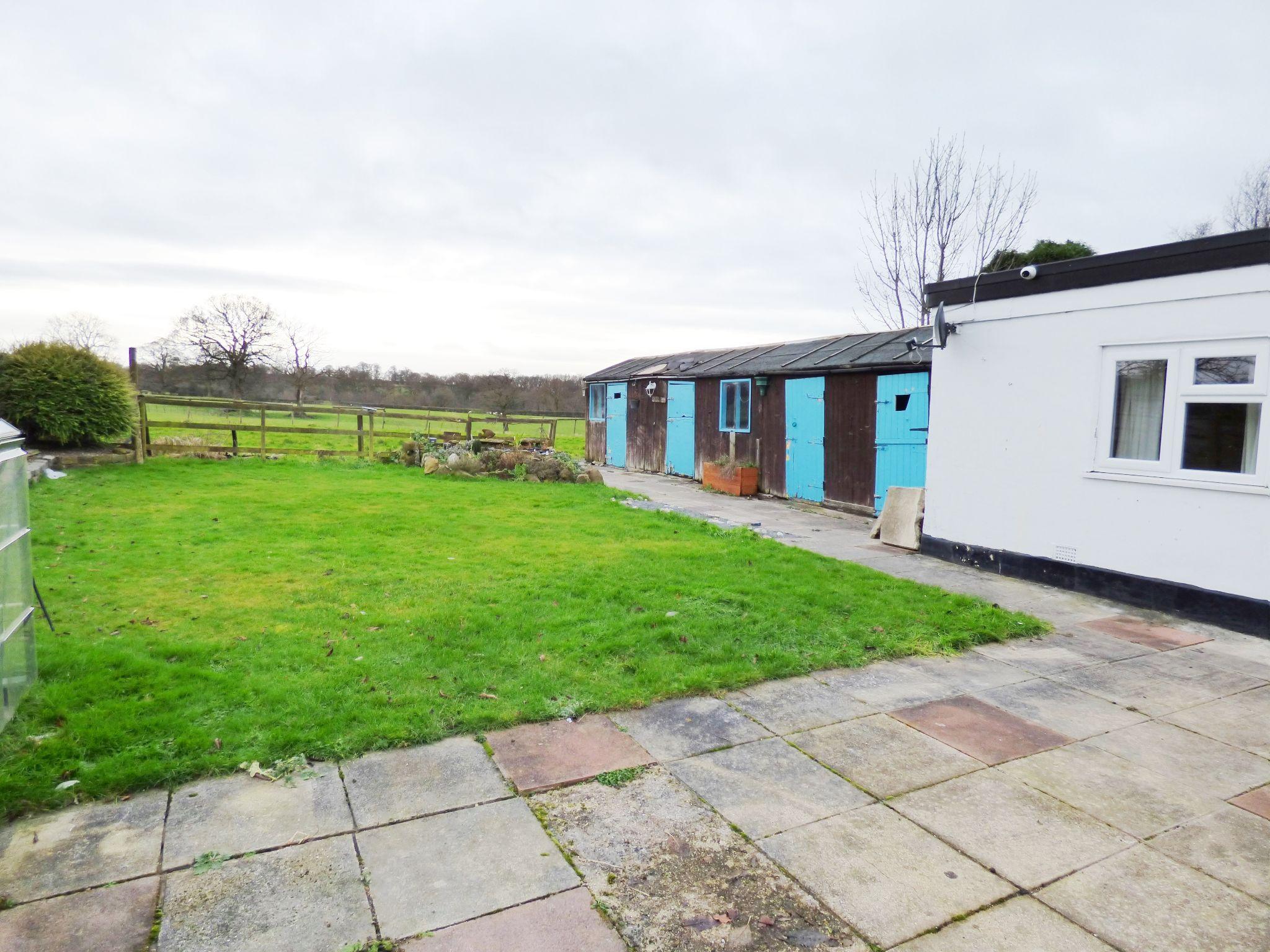 3 Bedroom Detached Bungalow For Sale - Rear Garden / Stable Block
