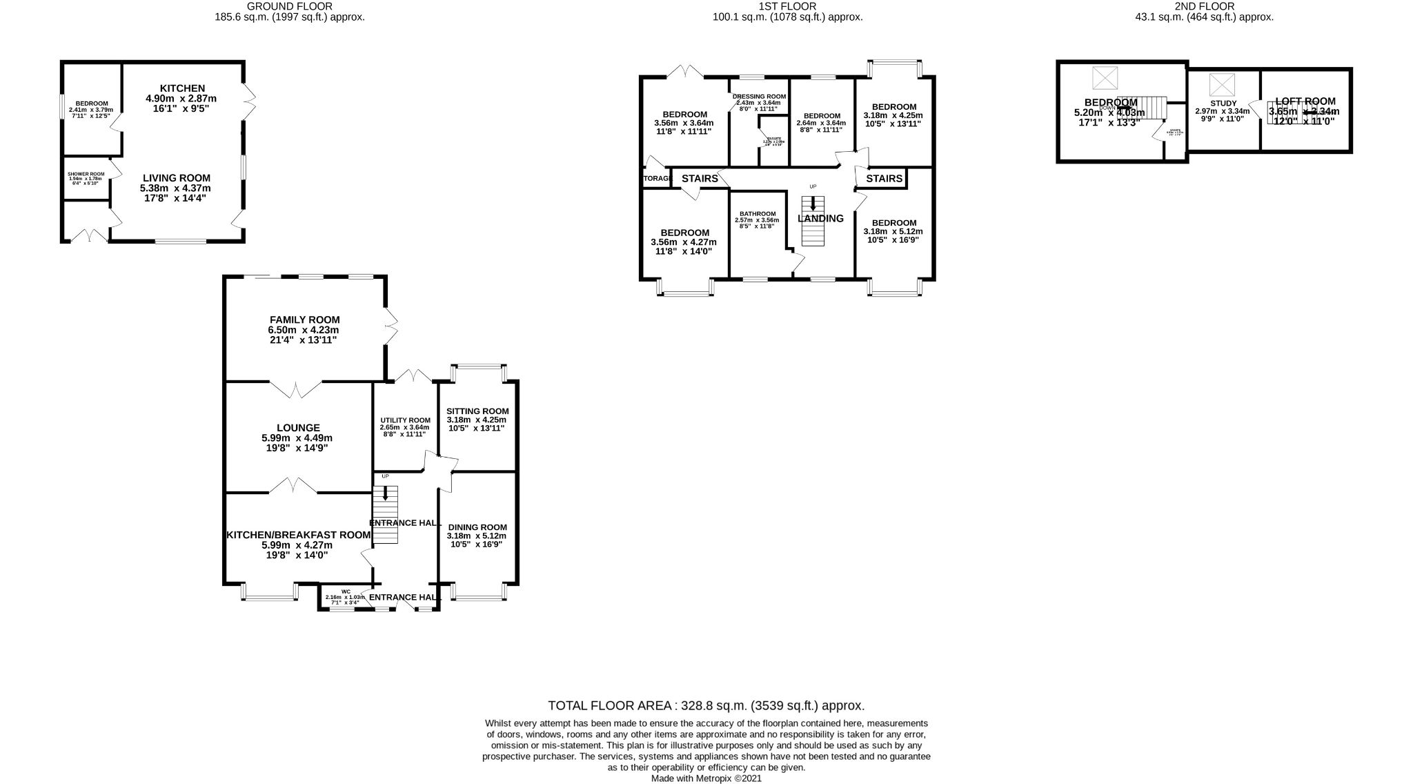5 Bedroom Semi-detached House For Sale - Floorplan 1