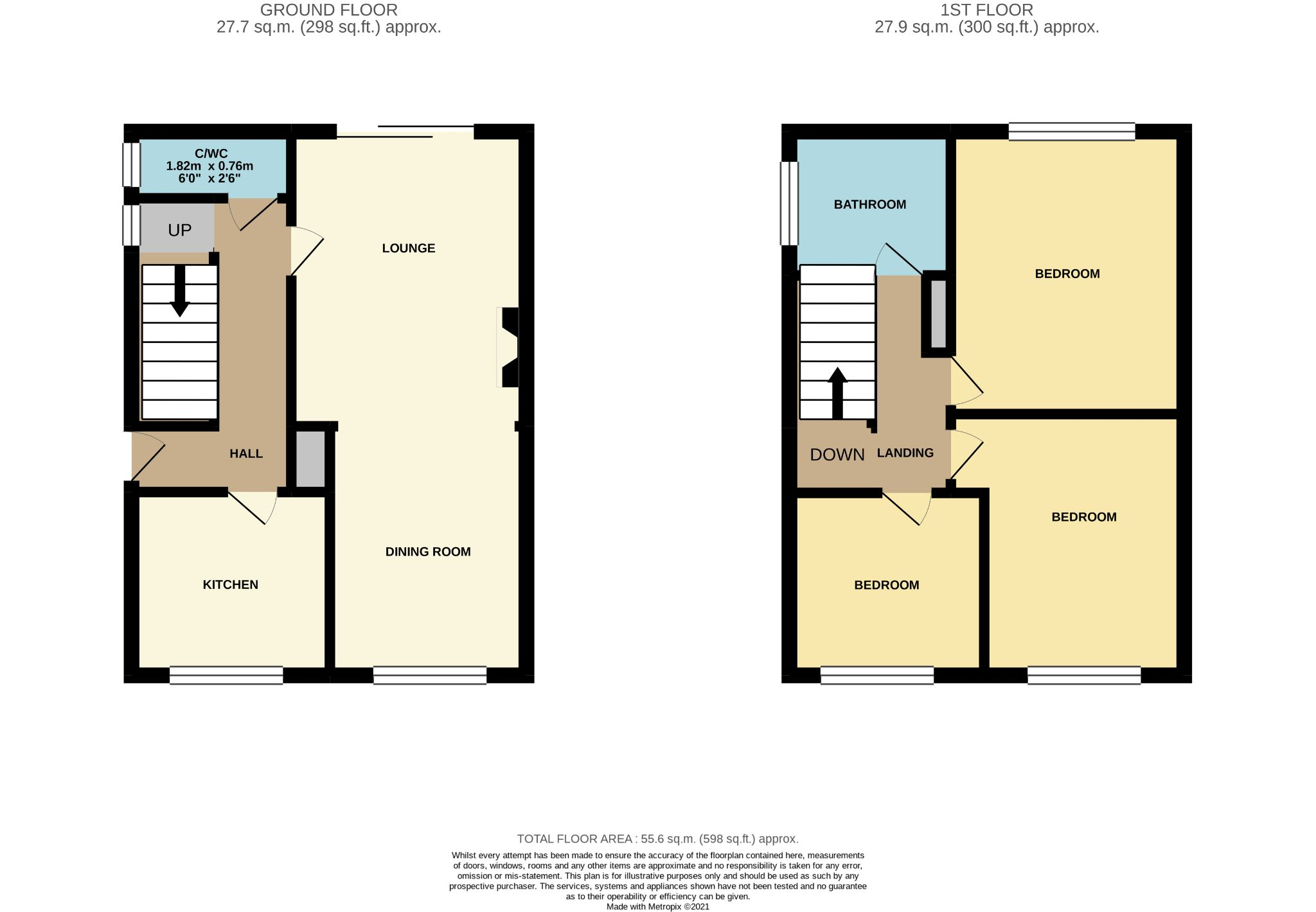 3 Bedroom Detached House For Sale - Floorplan 1