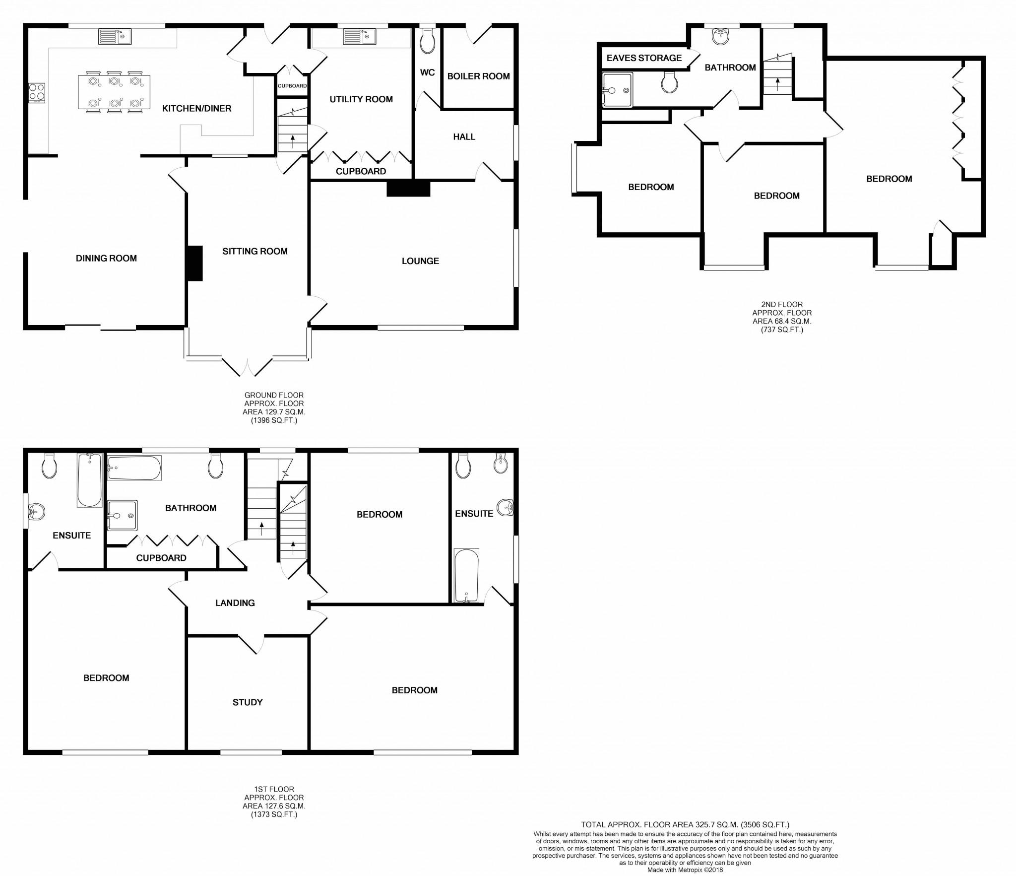 7 Bedroom Detached House For Sale - Floorplan 1