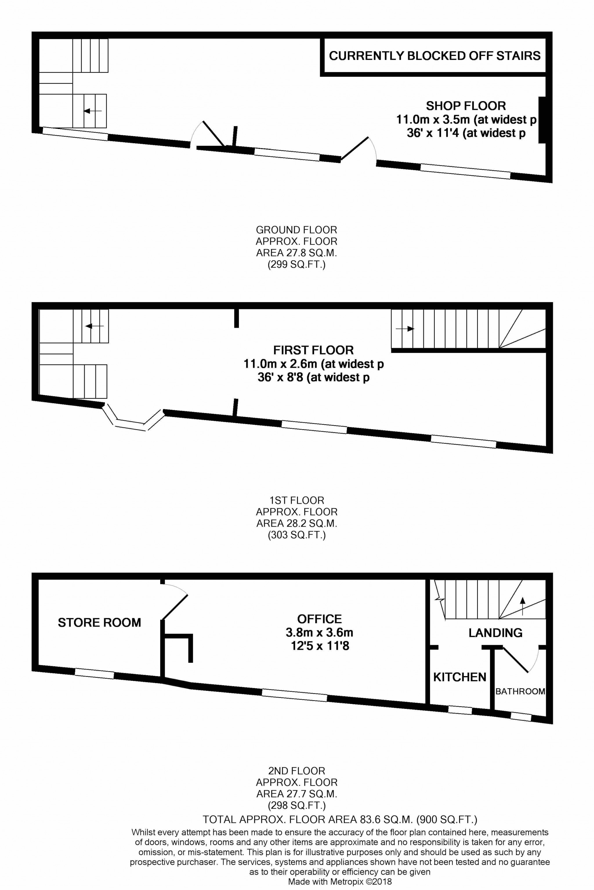 Retail Property (high Street) For Sale - Floorplan 1