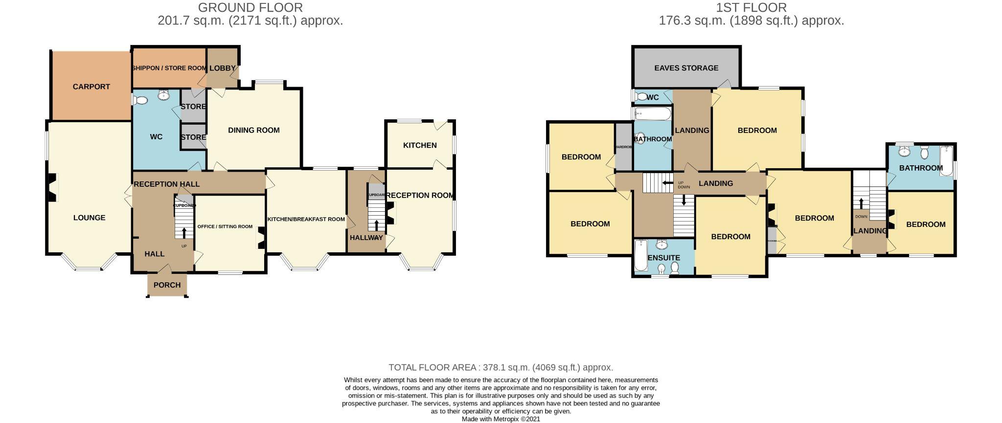 6 Bedroom Detached House For Sale - Floorplan 1