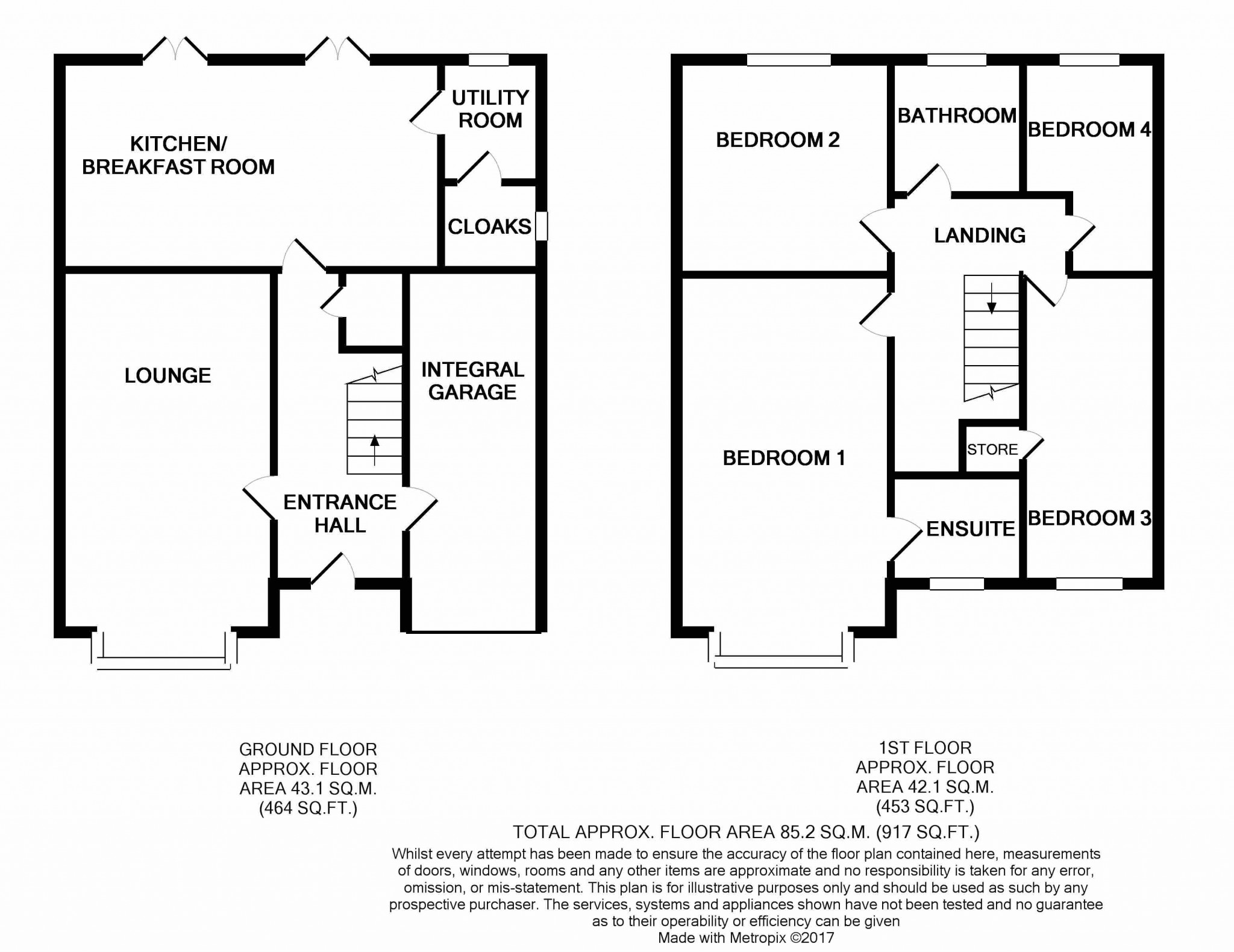 4 Bedroom Detached House For Sale - floorplan