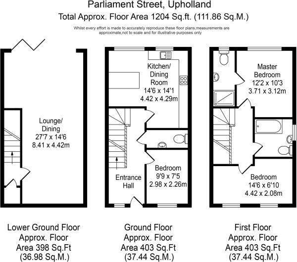 3 Bedroom Mews House For Sale - Floorplan 1