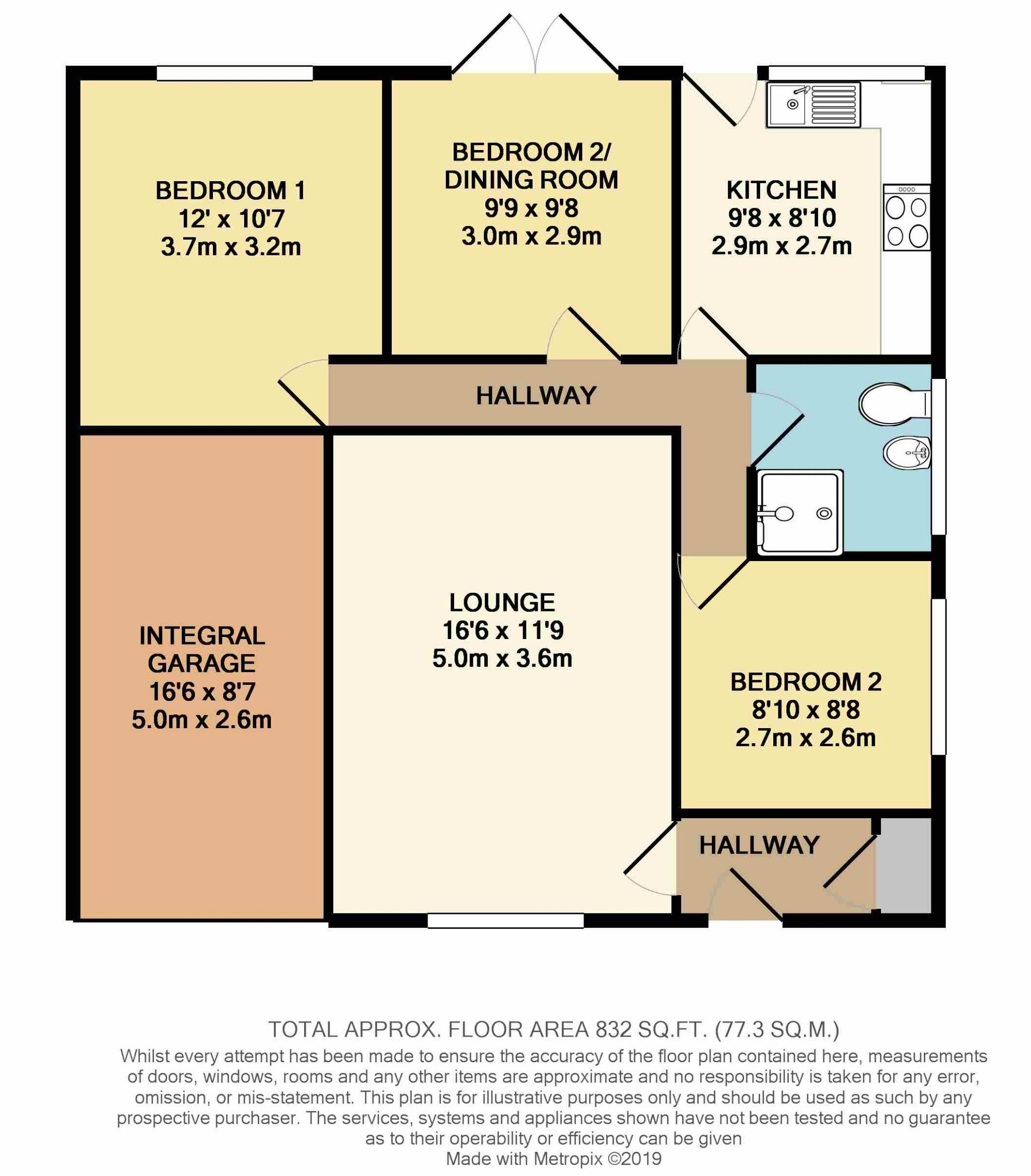 3 Bedroom Semi-detached Bungalow For Sale - Floorplan 1