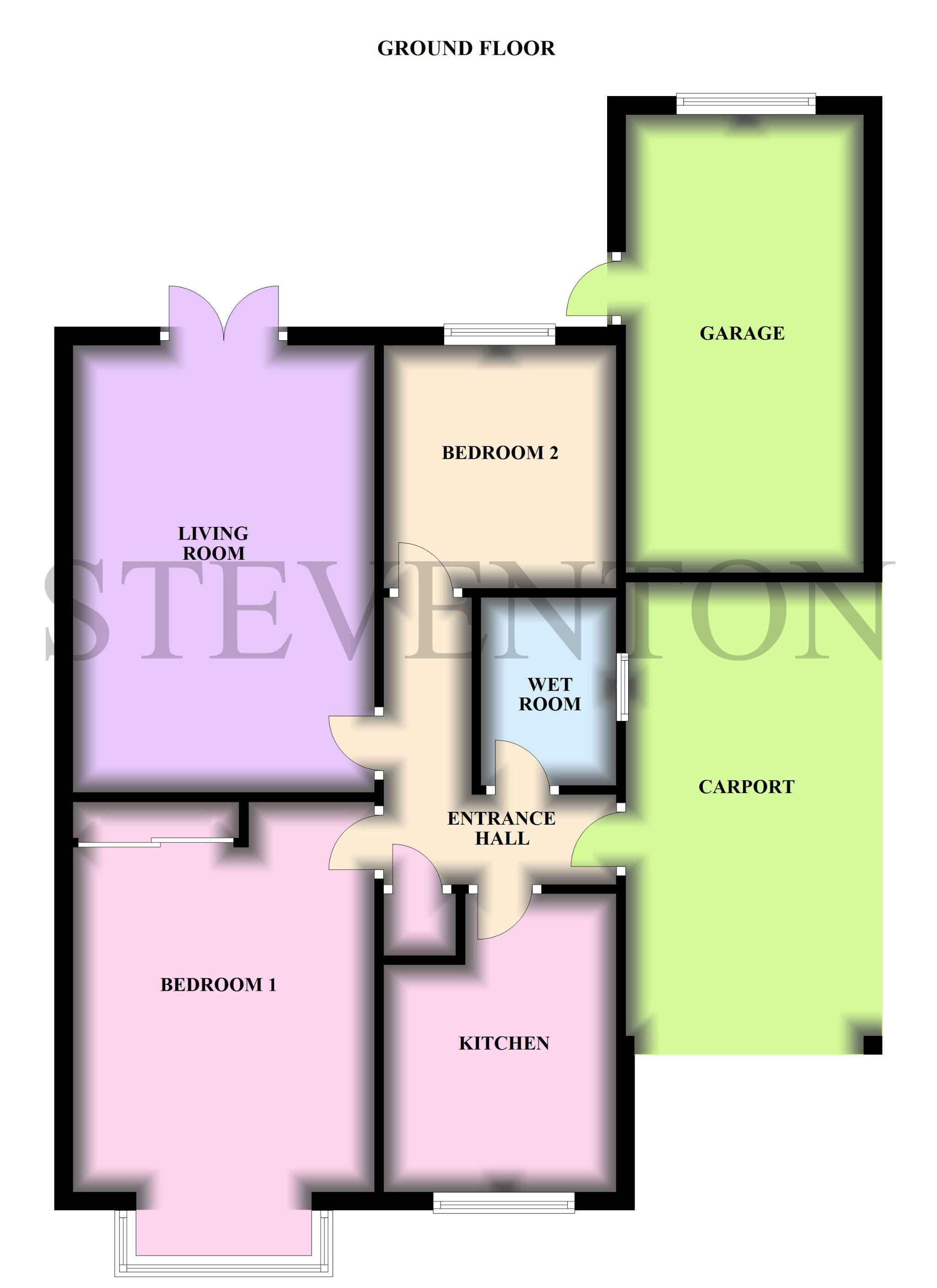 2 Bedroom Detached Bungalow For Sale - Floorplan 1