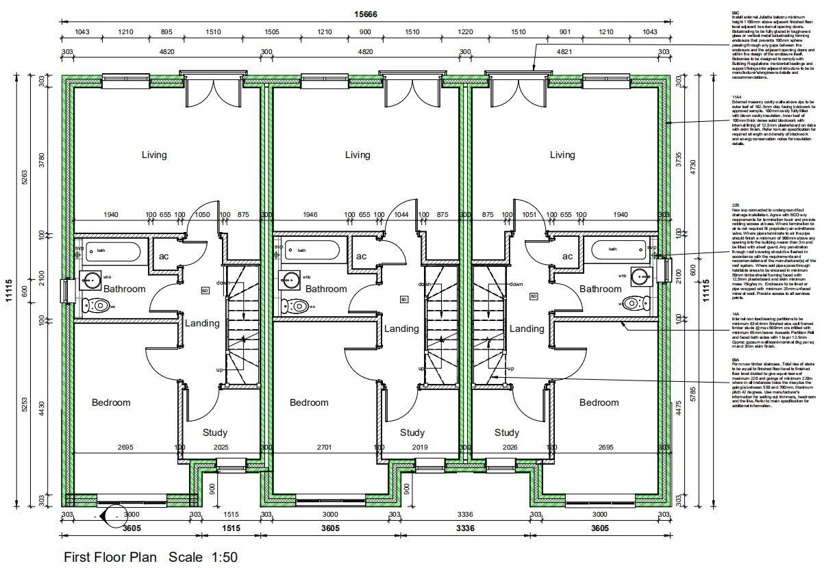 3 Bedroom Town House For Sale - Floorplan 2
