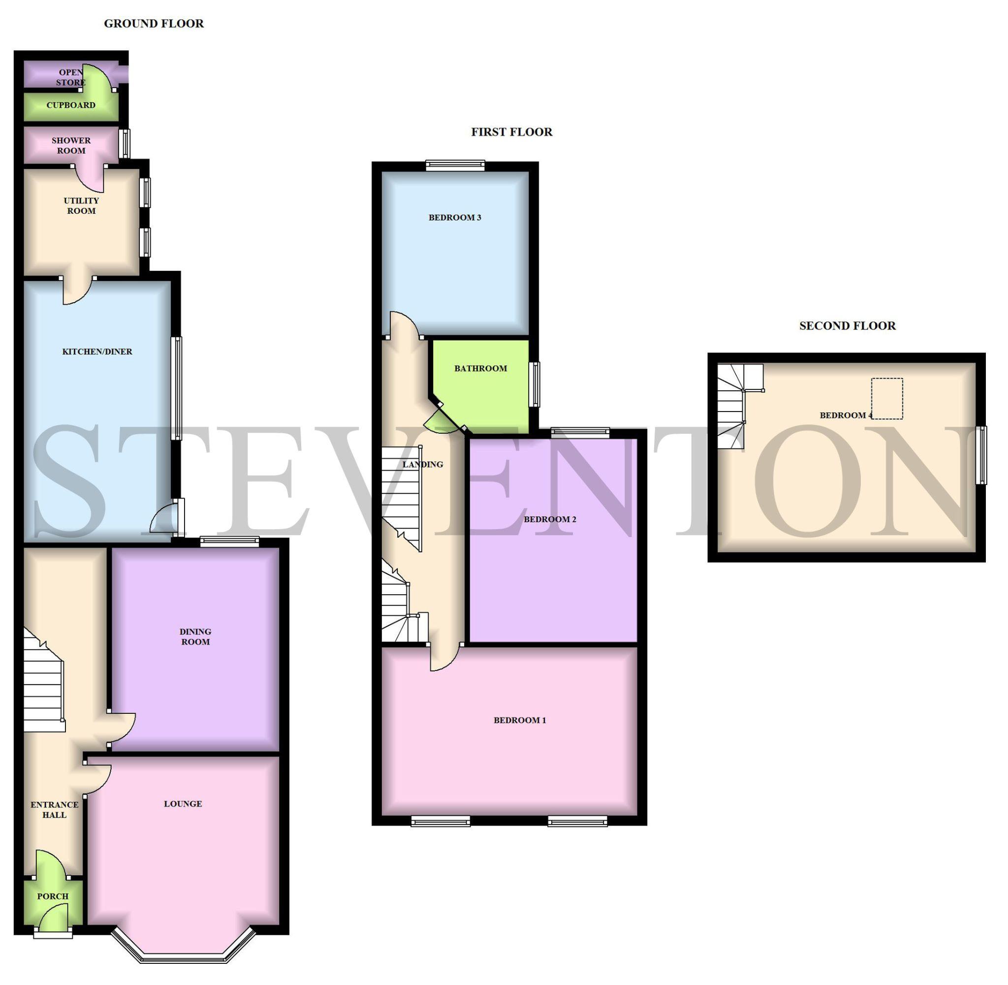 4 Bedroom Semi-detached House For Sale - Floorplan 1