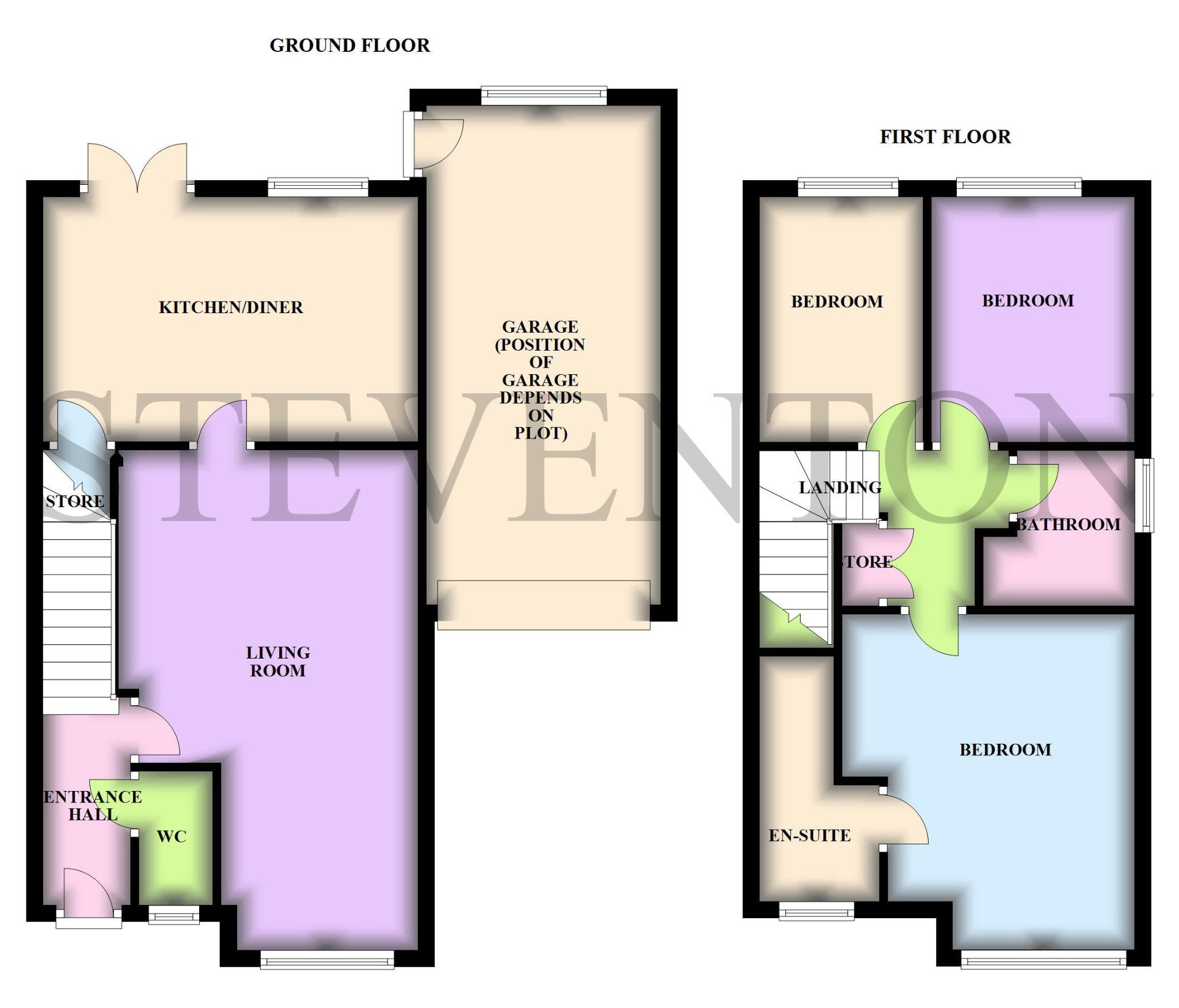 3 Bedroom Semi-detached House For Sale - Floorplan 2