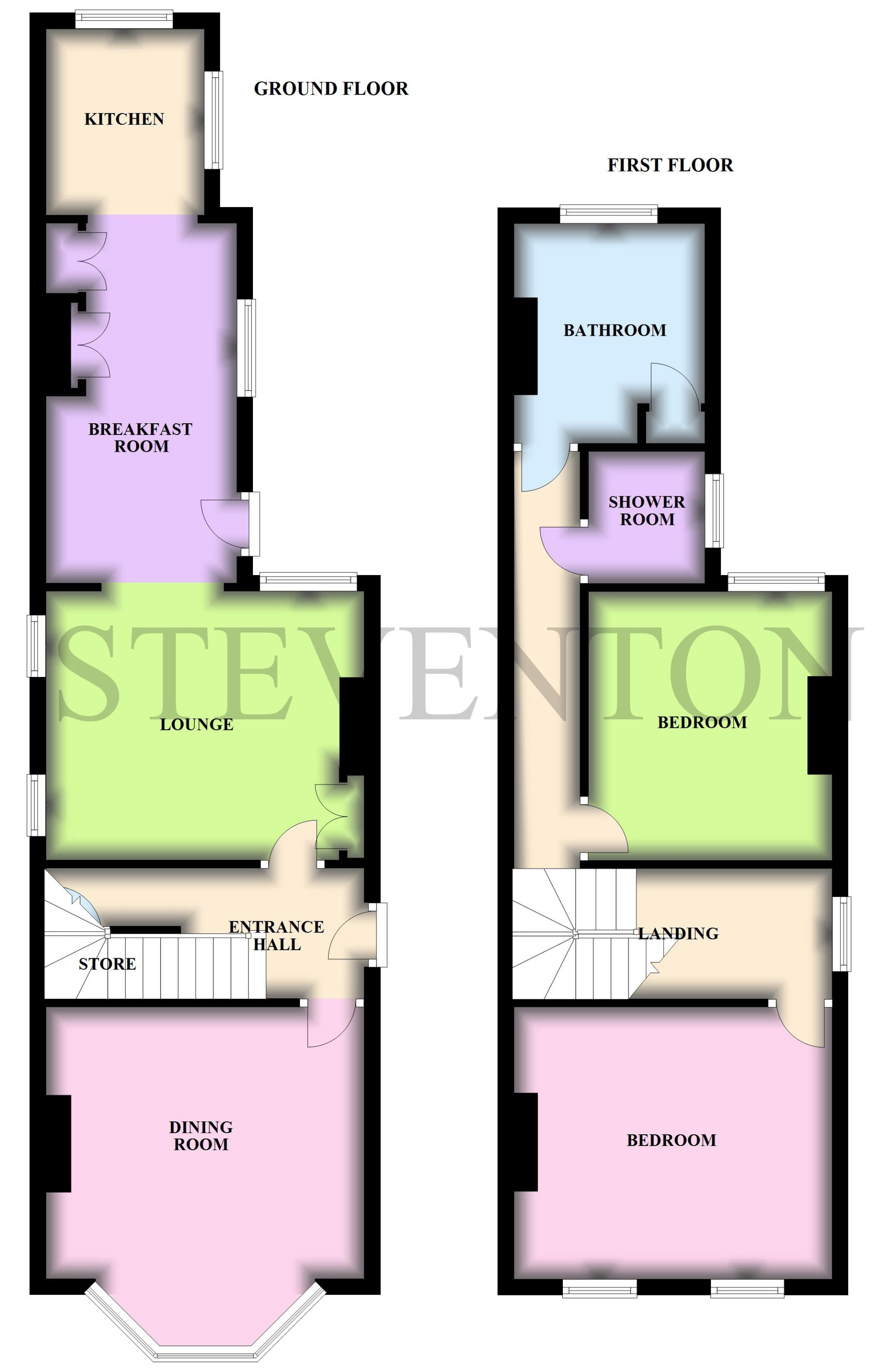 2 Bedroom Detached House For Sale - Floorplan 1
