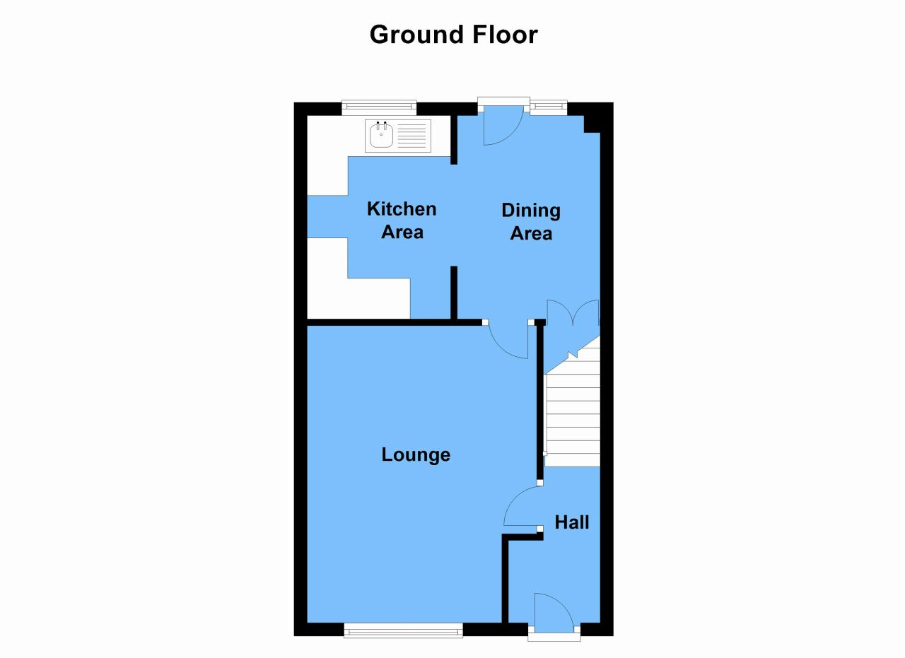 3 Bedroom End Terraced House For Sale Floorplan 0