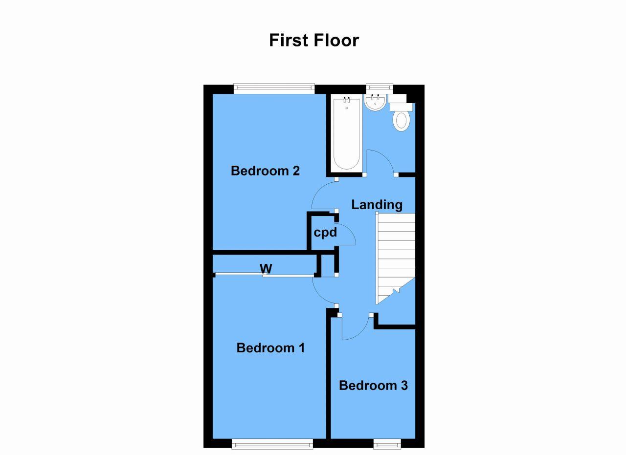 3 Bedroom End Terraced House For Sale Floorplan 2