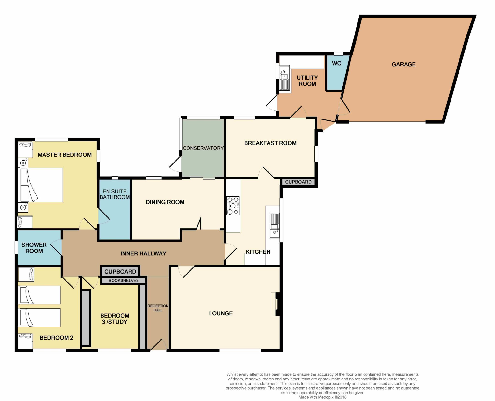 3 Bedroom Detached Bungalow For Sale - Floorplan 1