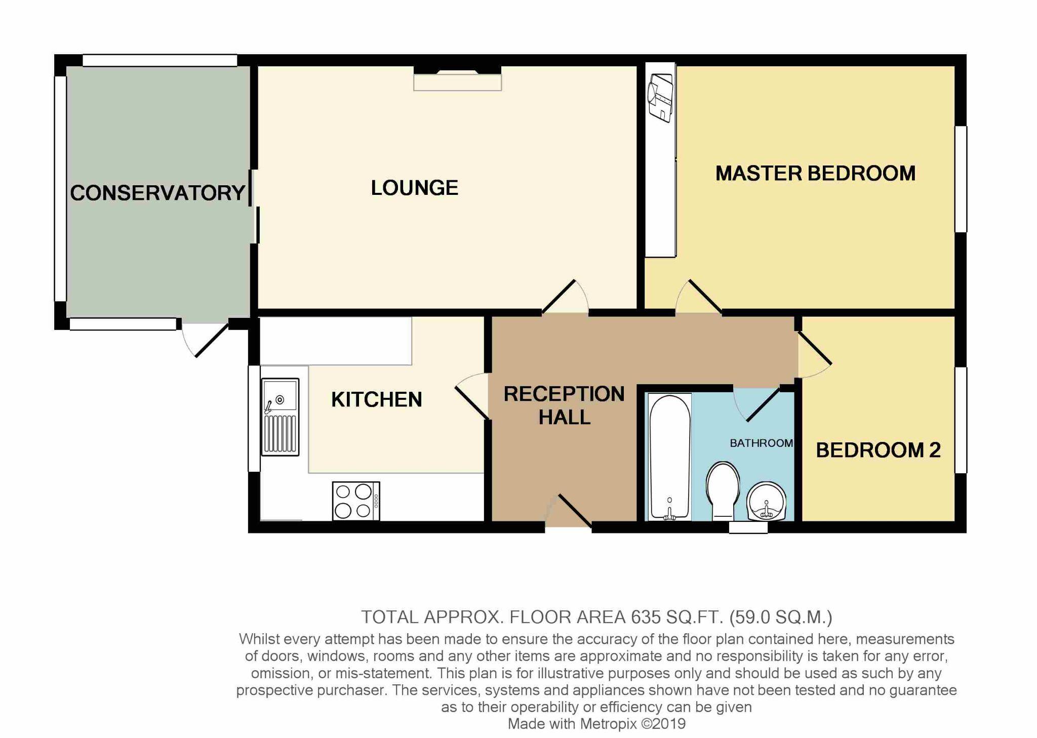 2 Bedroom Detached Bungalow For Sale - Floorplan 1