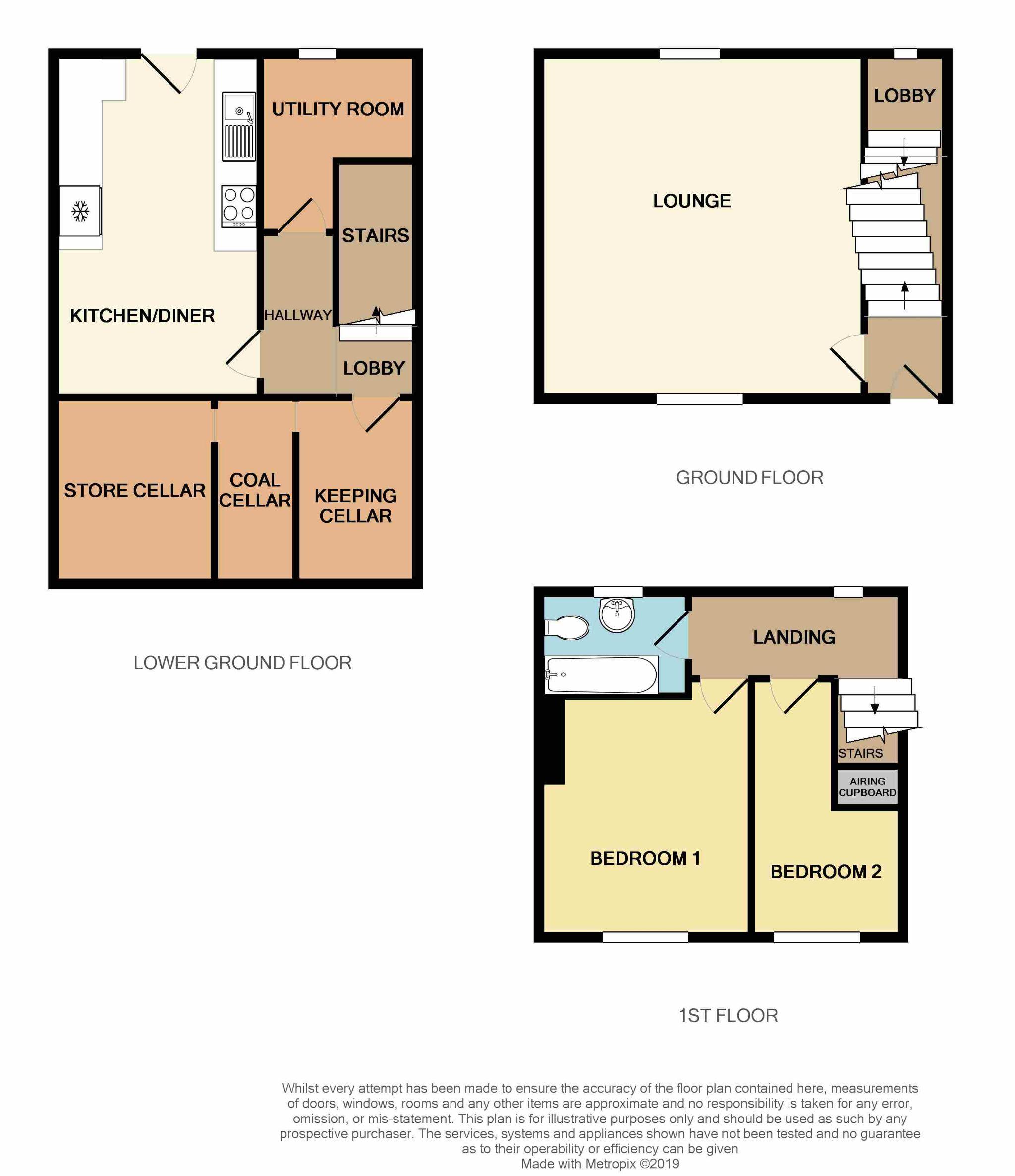 2 Bedroom Mid Terraced House For Sale - Floorplan 2
