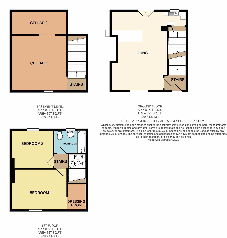 2 Bedroom Cottage House For Sale - Floorplan 1
