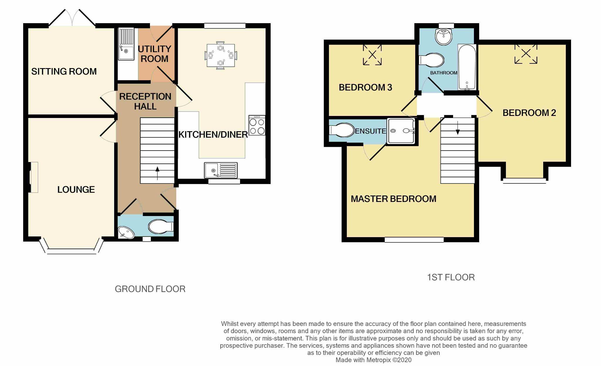 4 Bedroom Detached Dormer House For Sale - Floorplan 1