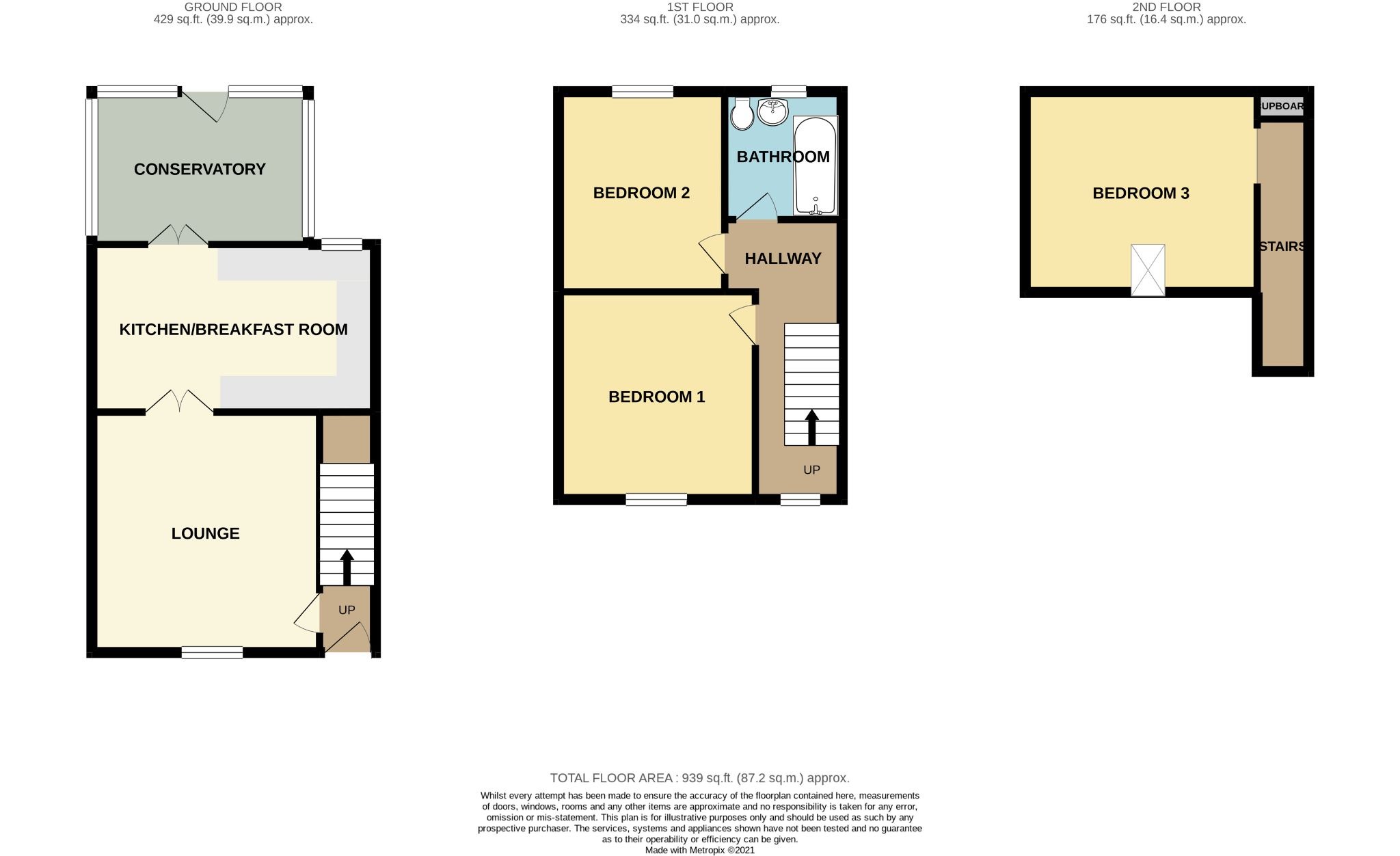 3 Bedroom Town House For Sale - Floorplan 1