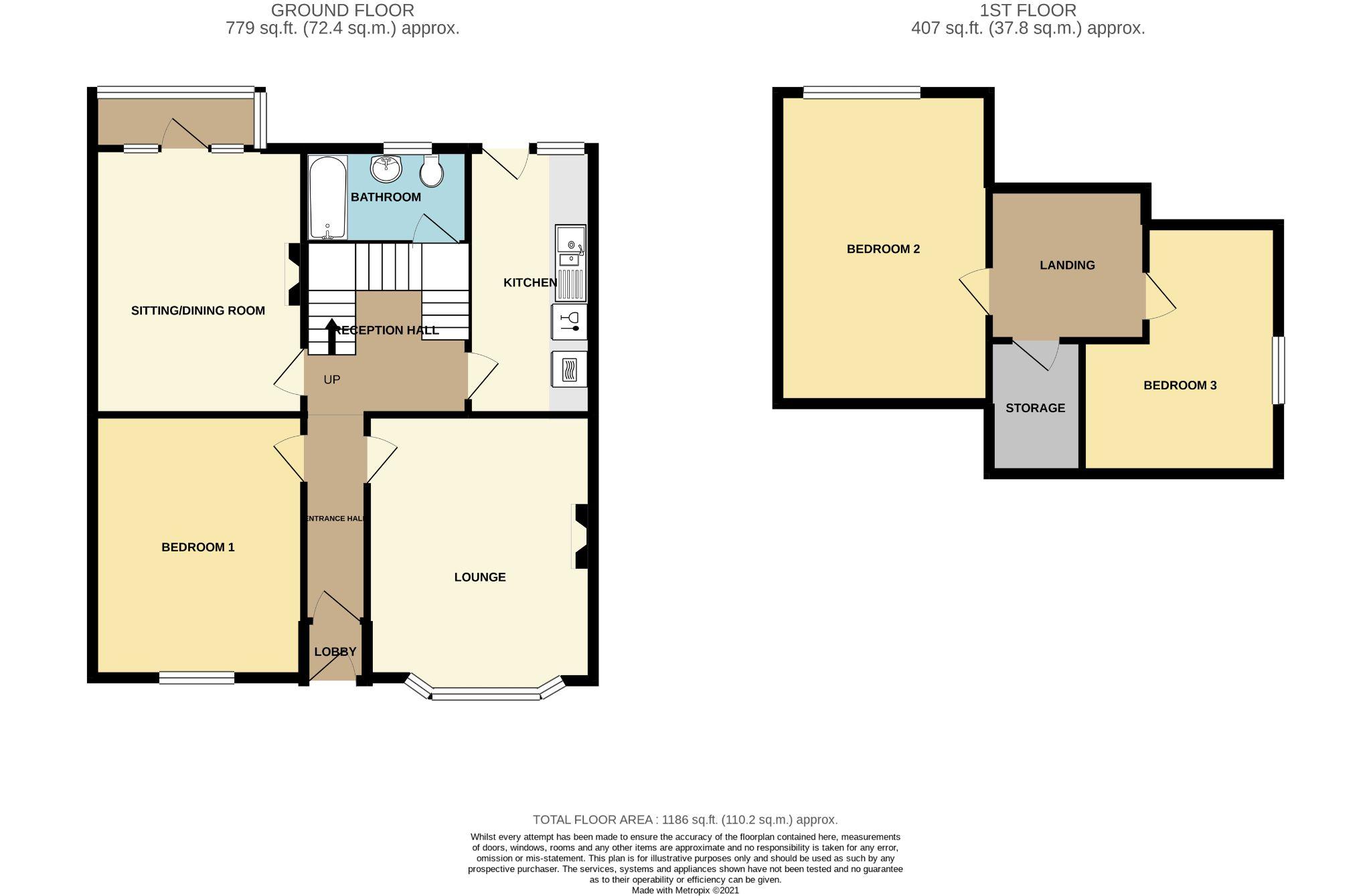3 Bedroom Semi-detached Dormer House For Sale - Floorplan 1