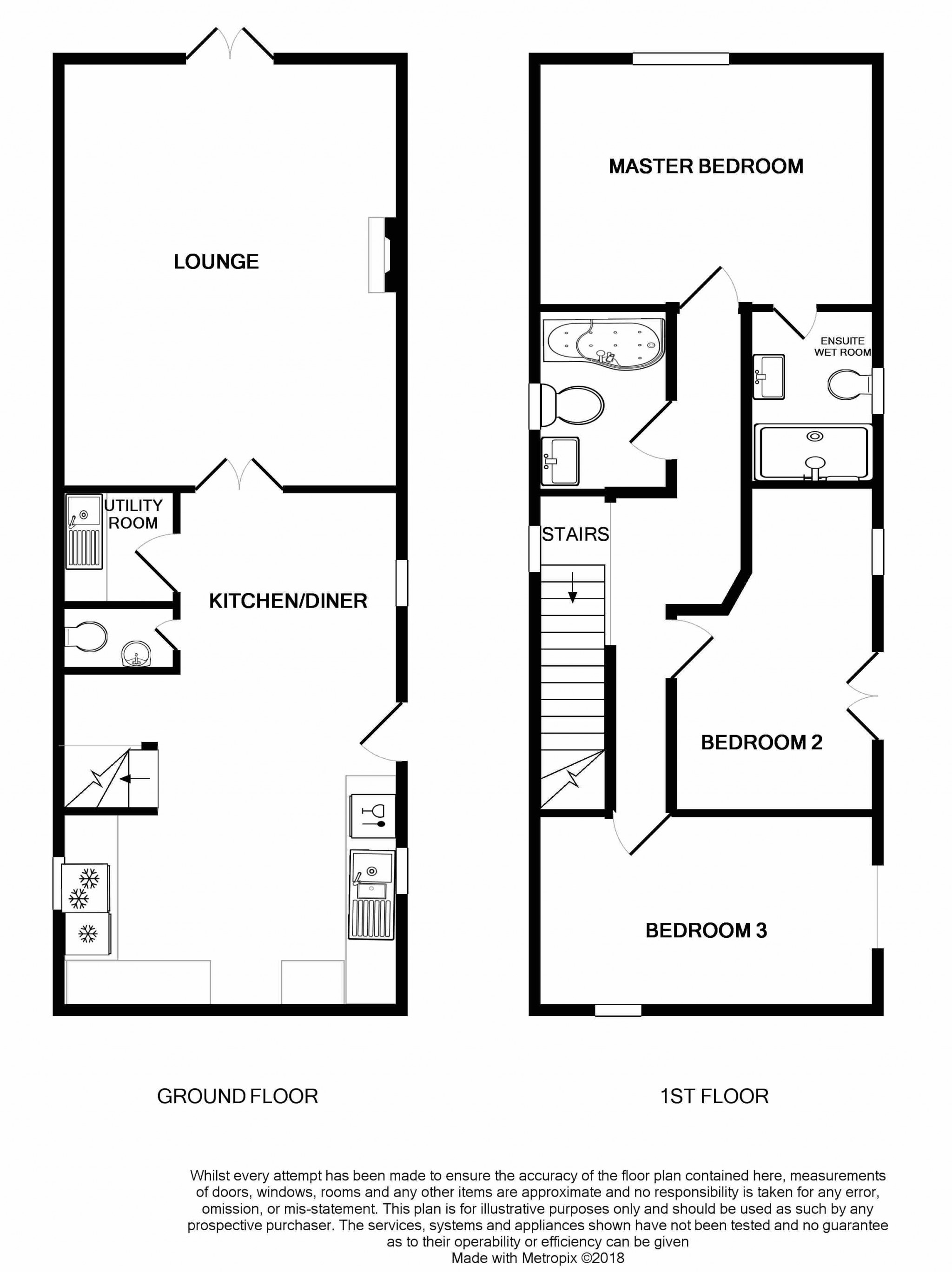 3 Bedroom Barn Conversion House For Sale - Floorplan 1