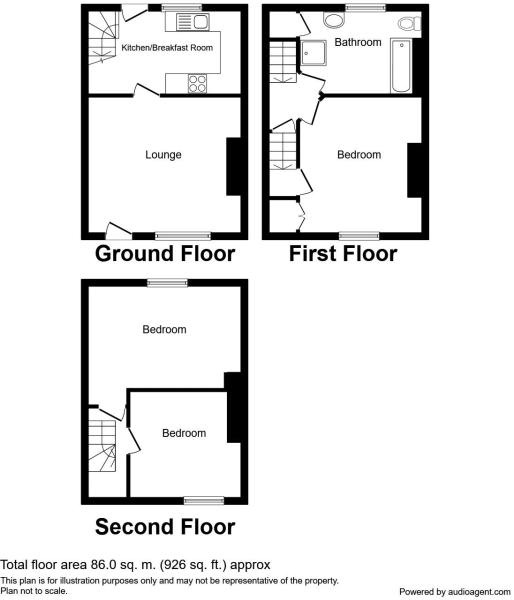3 bedroom end terraced house For Sale in Todmorden - Floorplan 1.