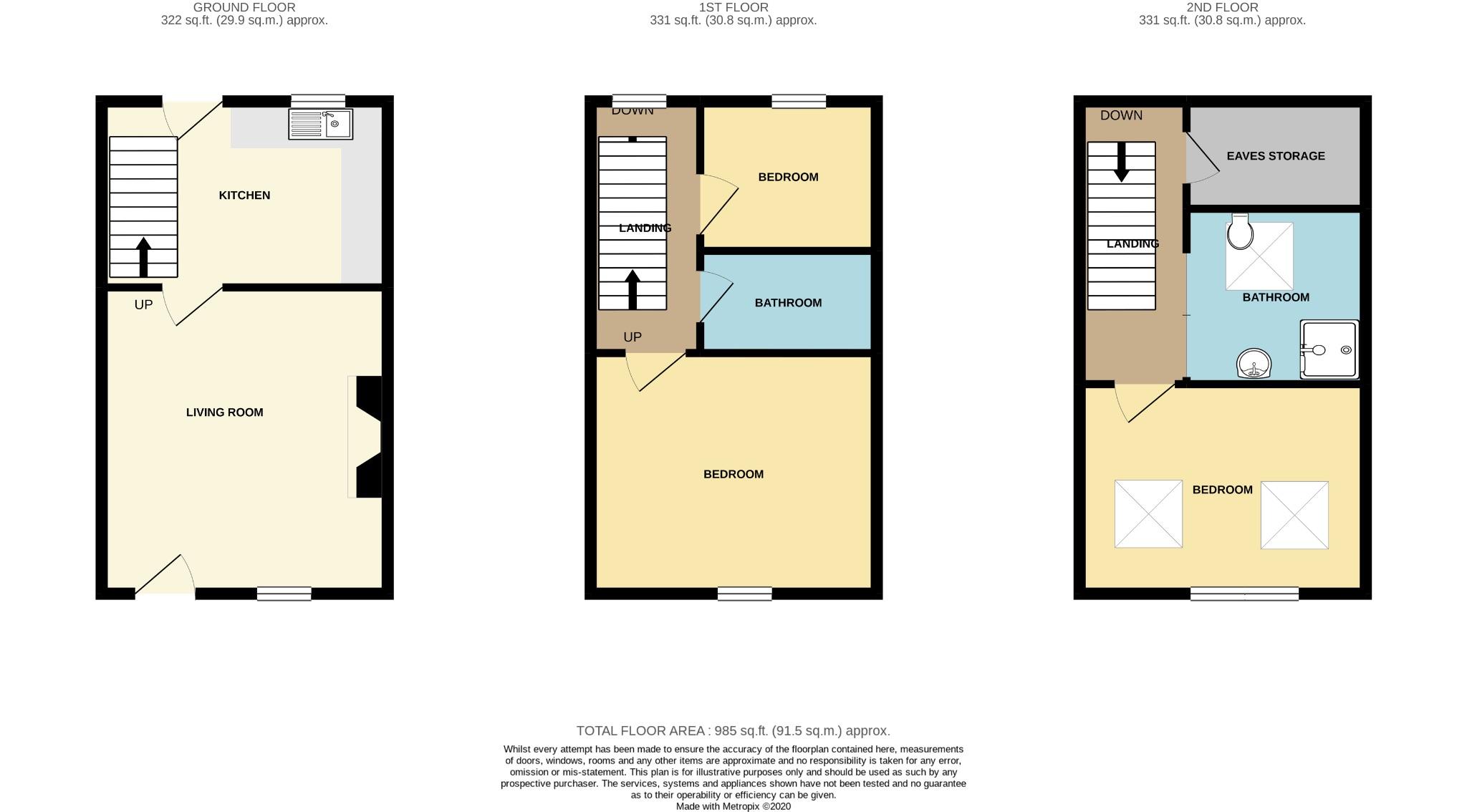 3 bedroom mid terraced house For Sale in Todmorden - Floorplan 1.