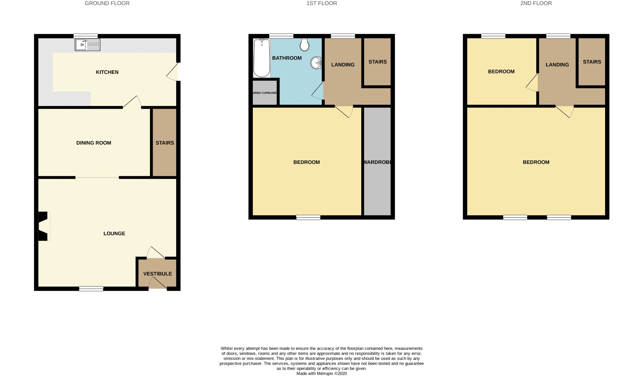 3 bedroom mid terraced house For Sale in Calderdale - Floorplan 1.