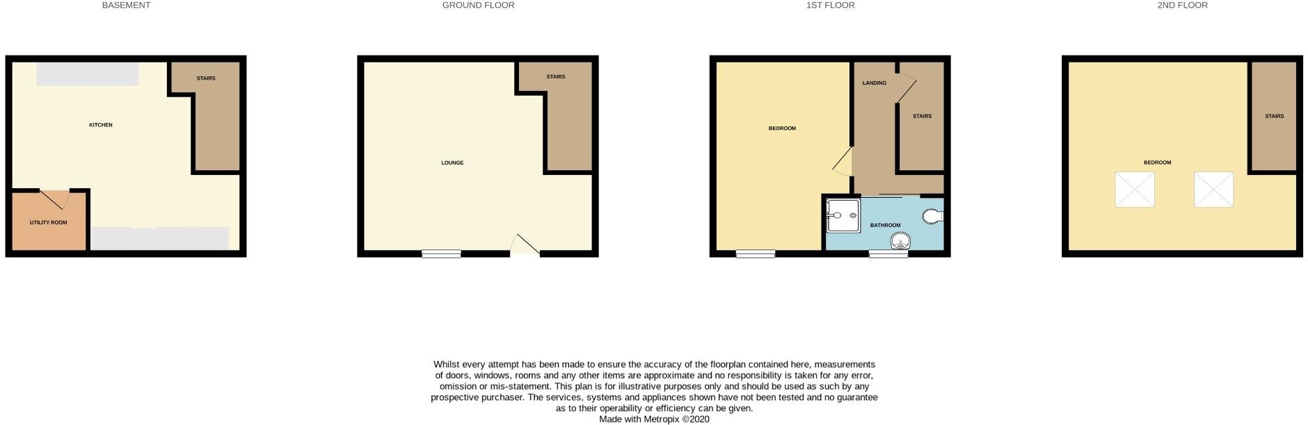 2 bedroom mid terraced house For Sale in Hebden Bridge - Floorplan 1.