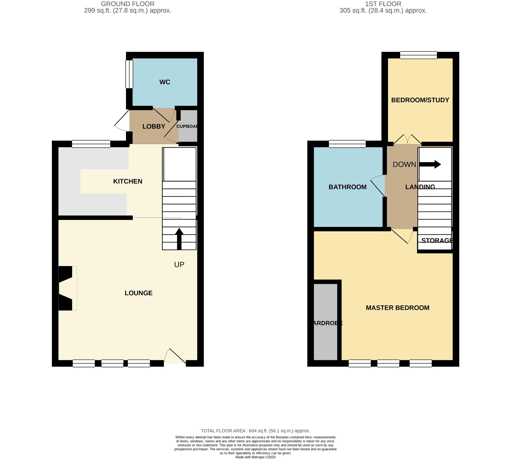 2 bedroom cottage house For Sale in Calderdale - Floorplan 1.