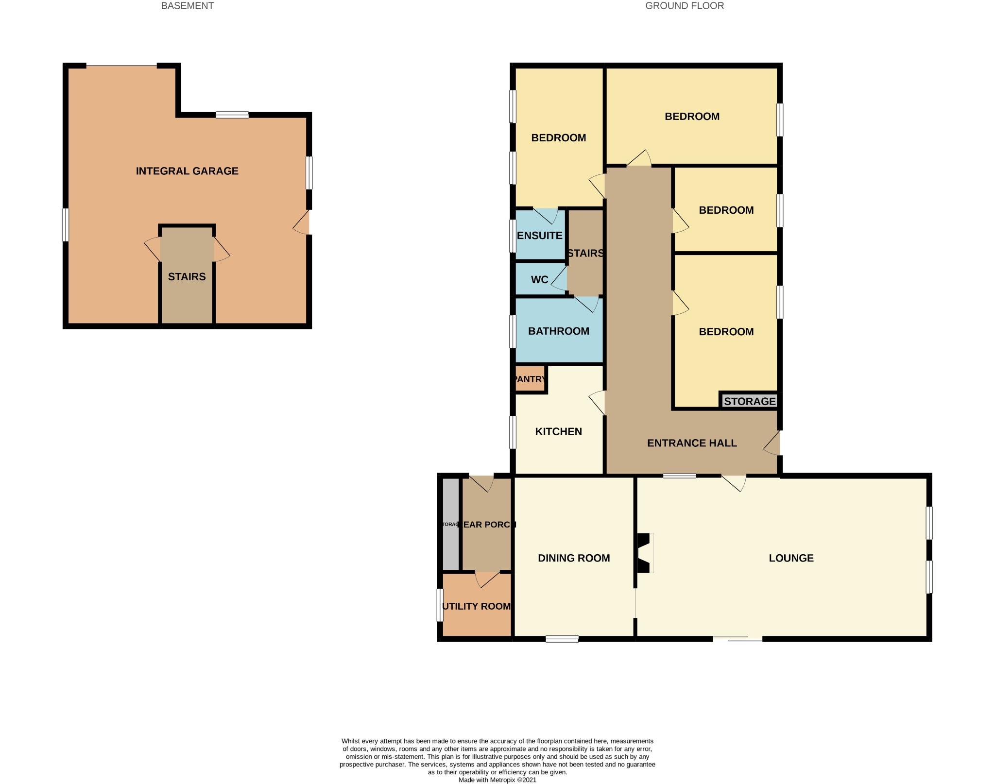 4 bedroom detached bungalow For Sale in Todmorden - Floorplan 1.