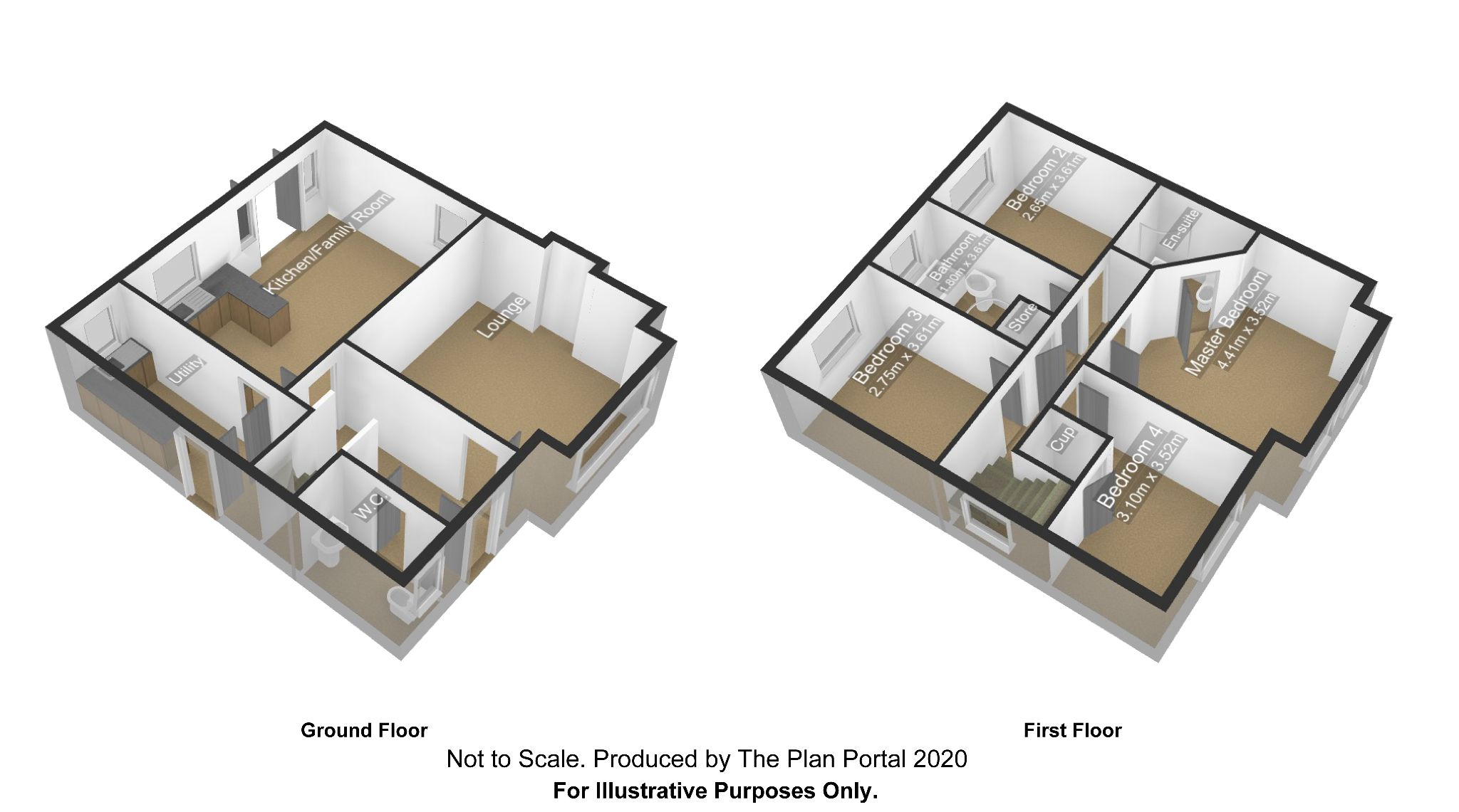 4 bedroom detached house For Sale in Antrim - Floorplan 1