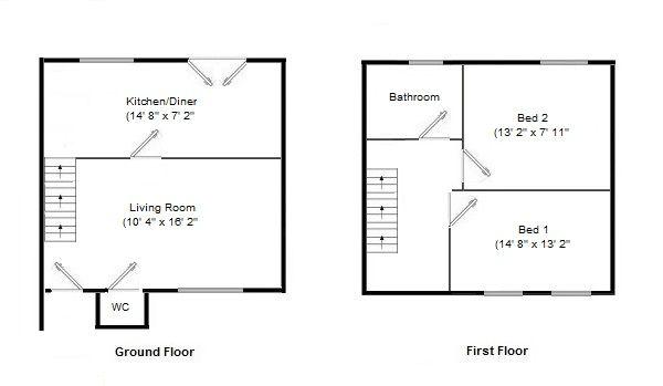 2 bedroom semi-detached house SSTC in Northenden - Floorplan 1.