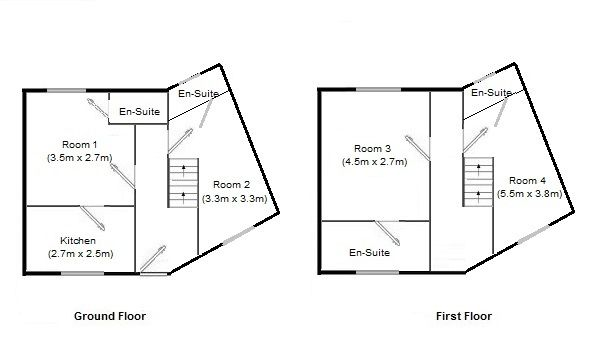 4 bedroom end terraced house SSTC in Manchester - Floorplan 1.