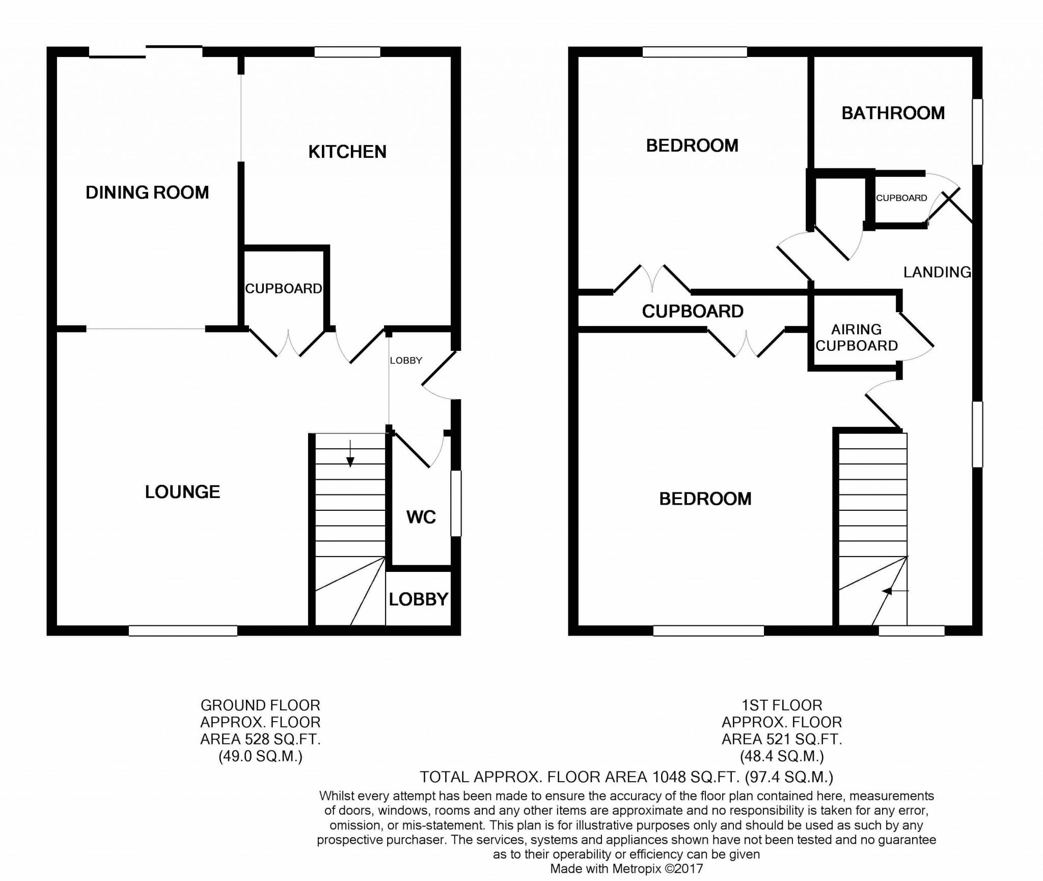2 bedroom semi-detached house SSTC in Rendlesham, Woodbridge - Floorplan 1